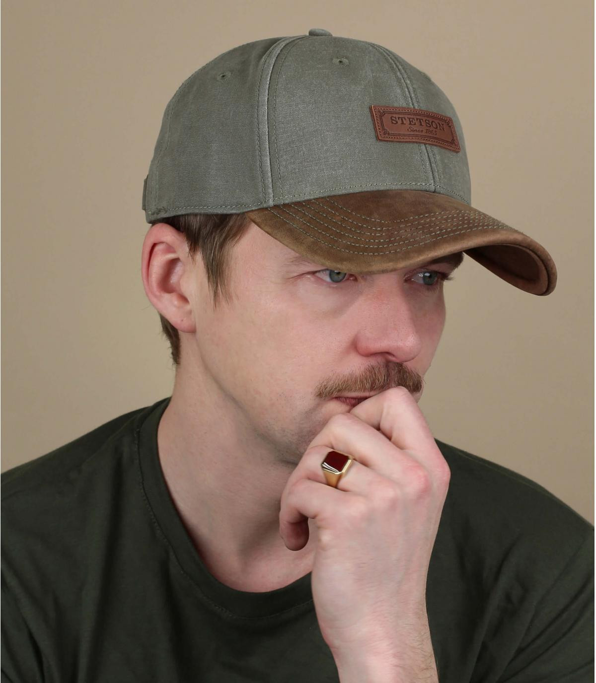 Cappellino in cotone scamosciato Stetson