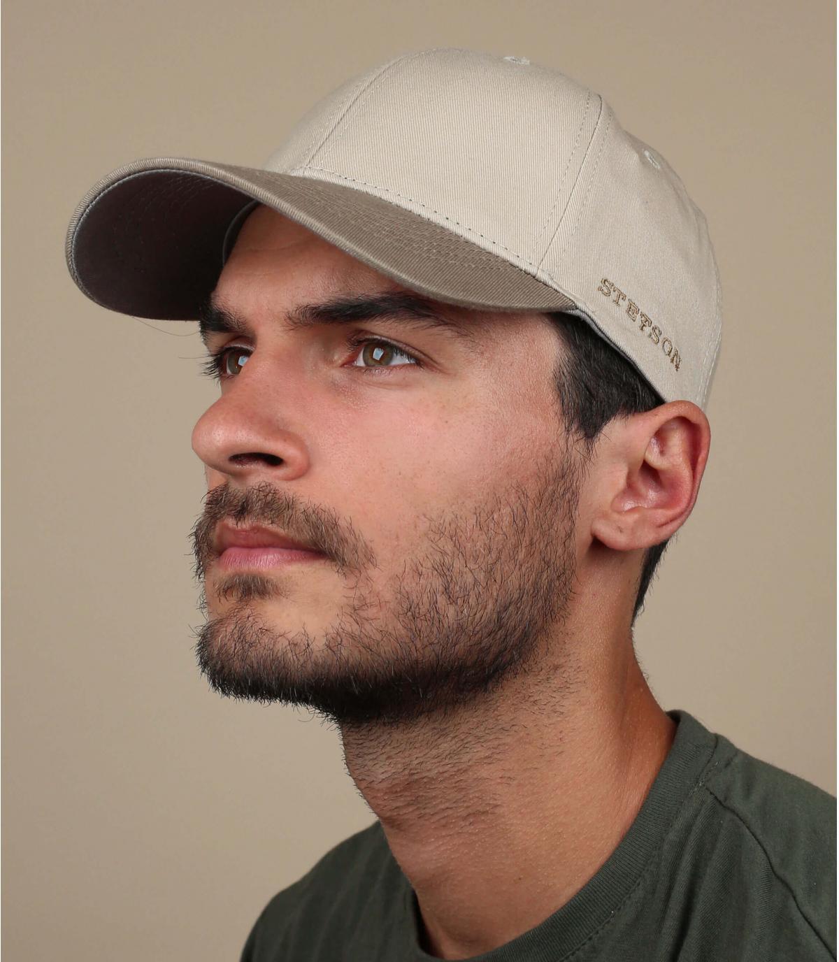 cappello stetson beige