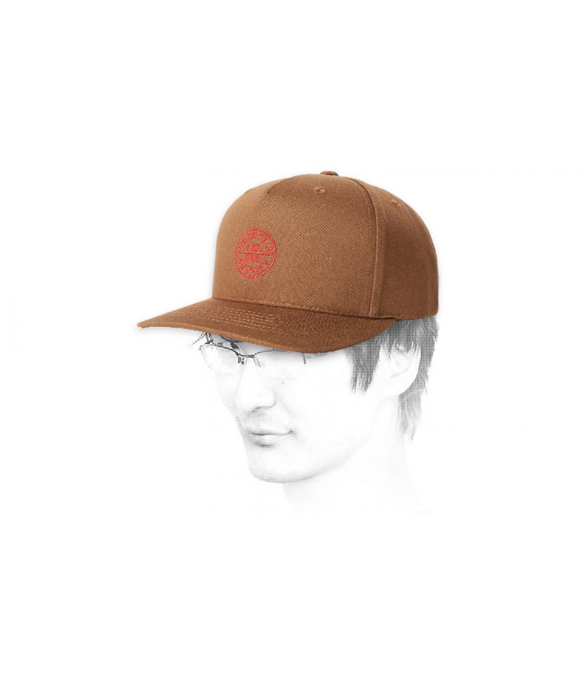 snapback marrone di Brixton