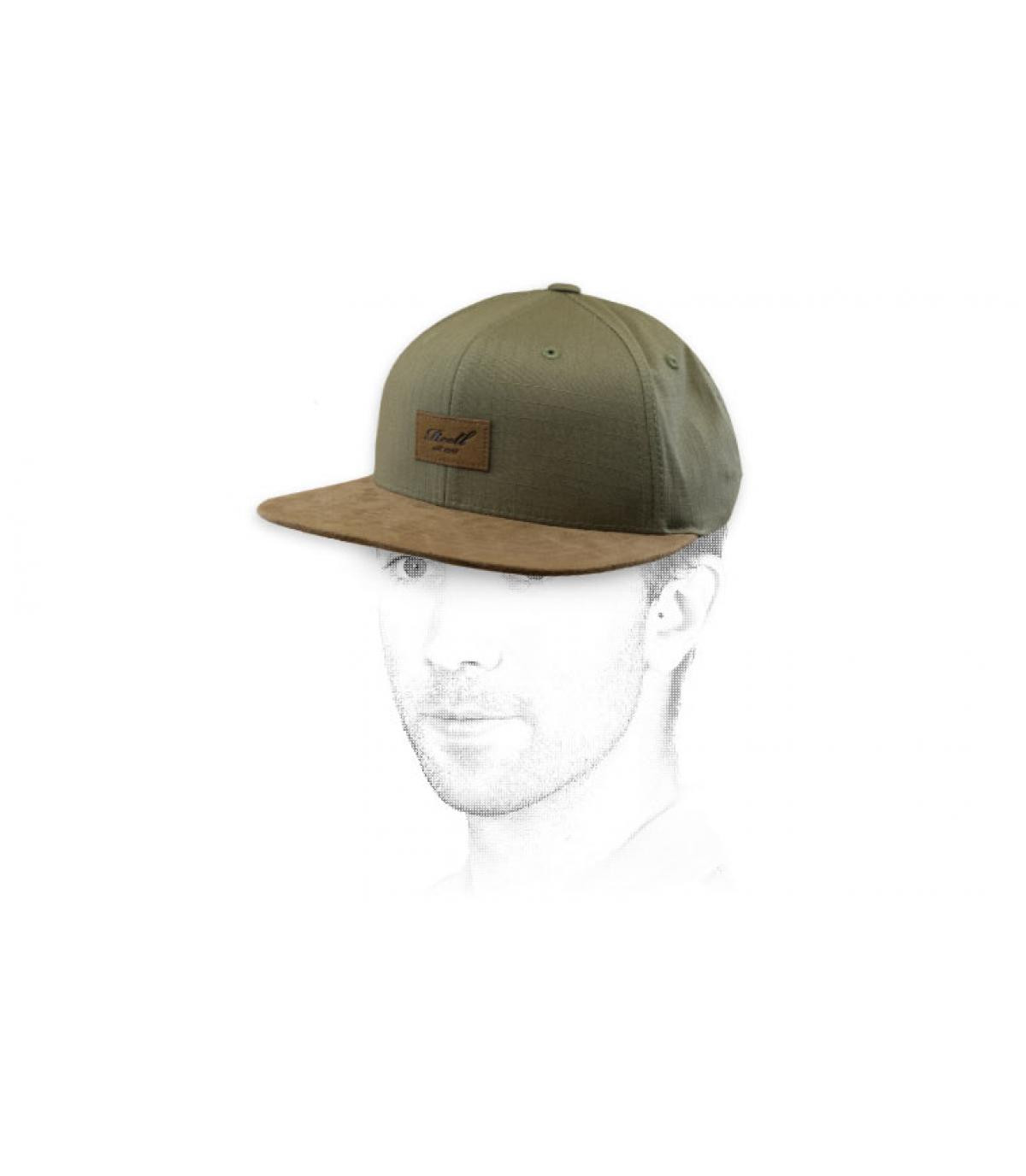 Reell Suede Green Snapback