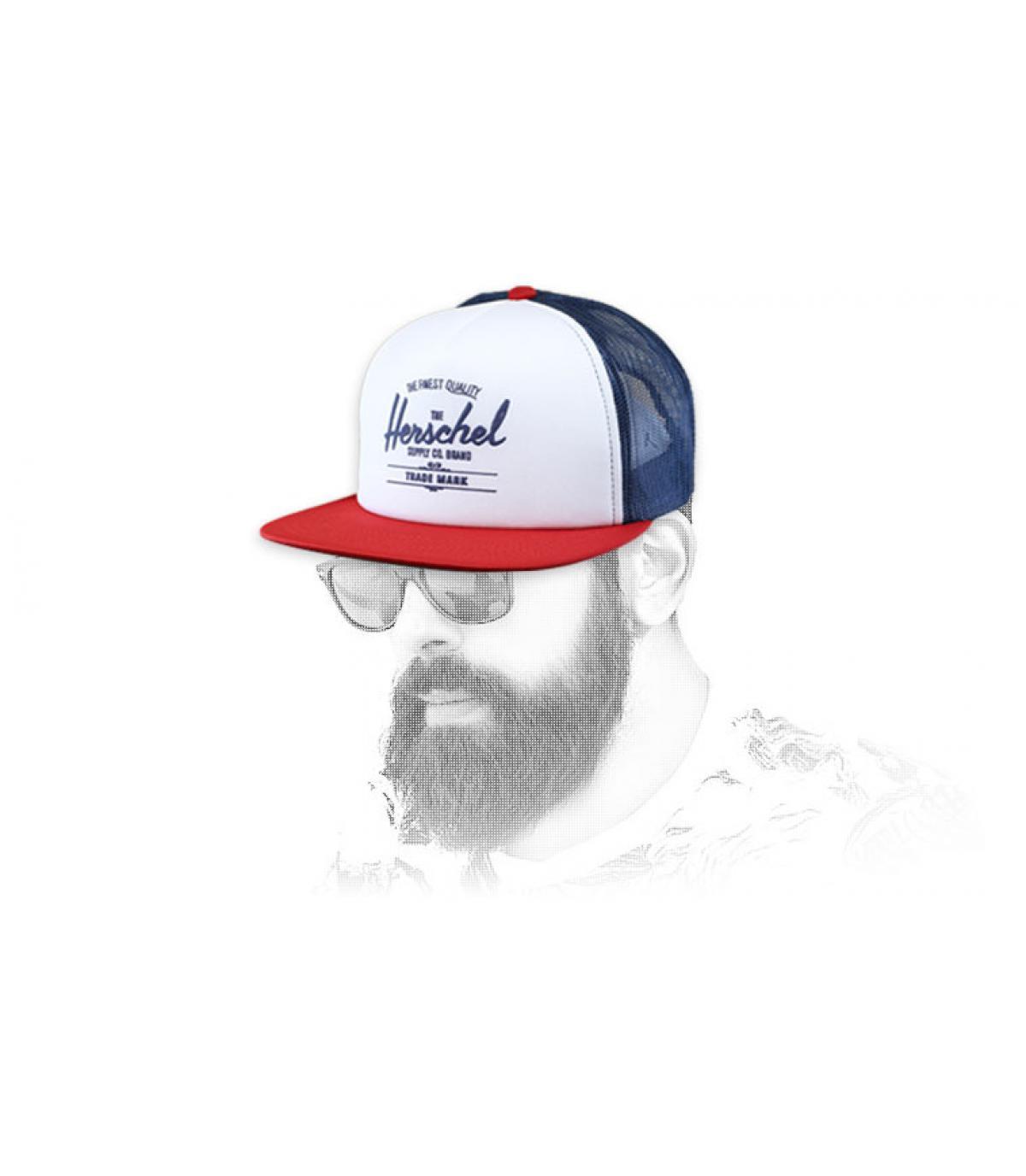 trucker rosso bianco blu di Herschel