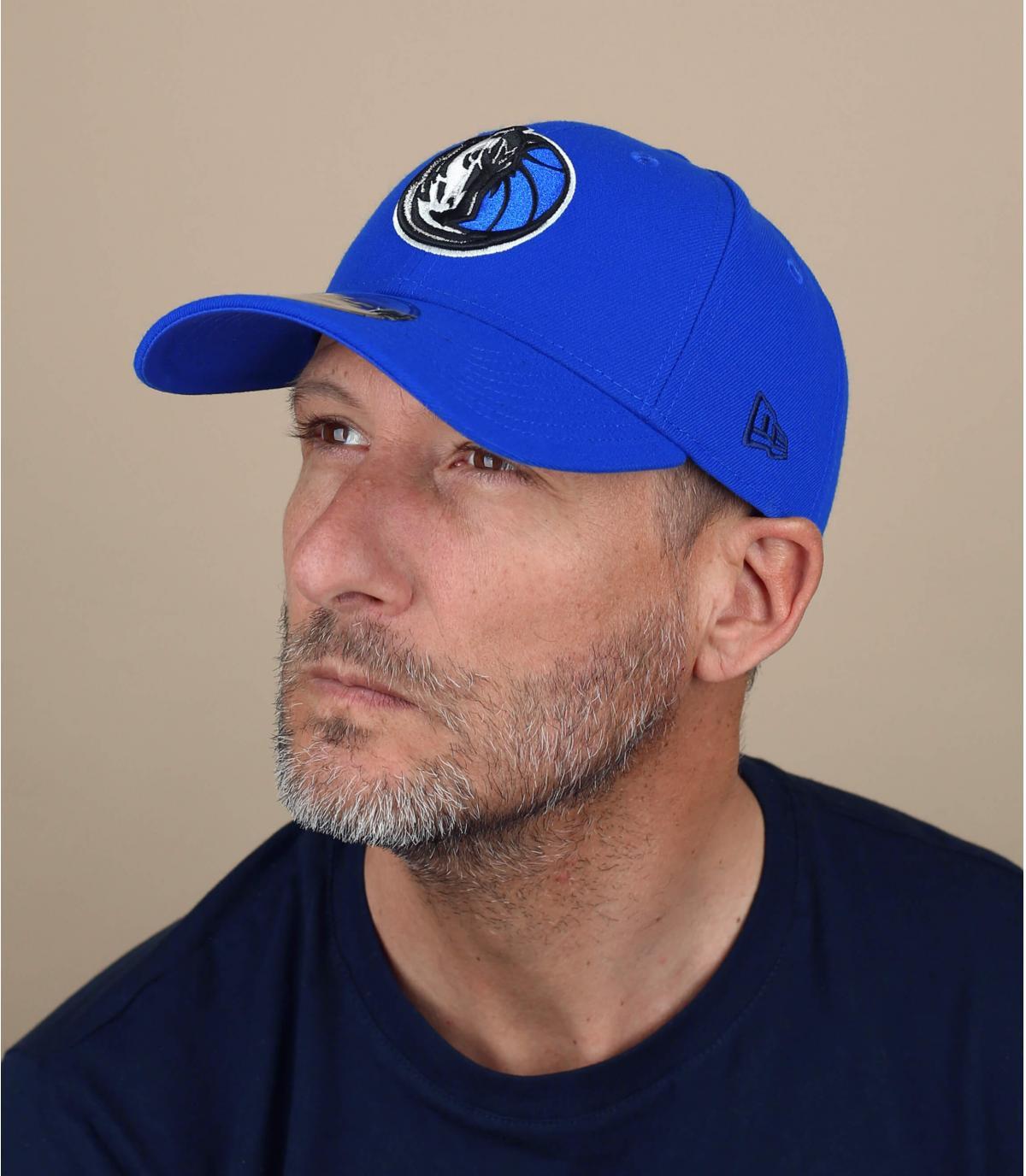 Yankees cap curva blu