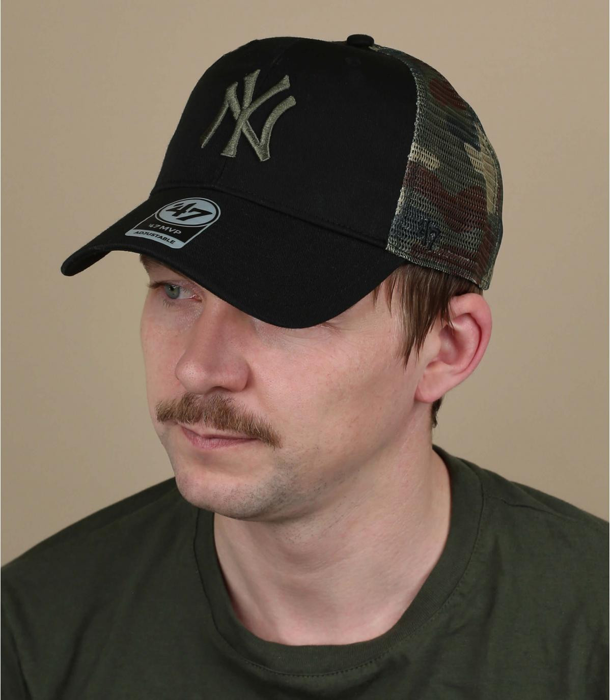 Cappellino NY mimetico nero