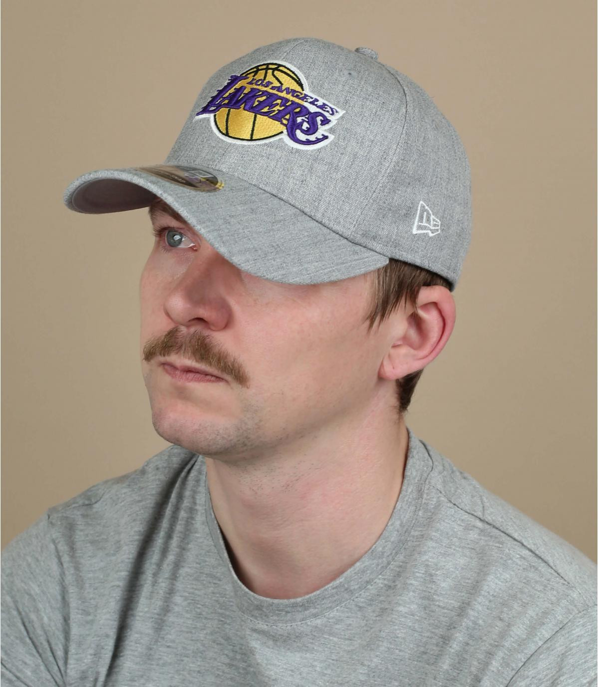 berretto Lakers grigio