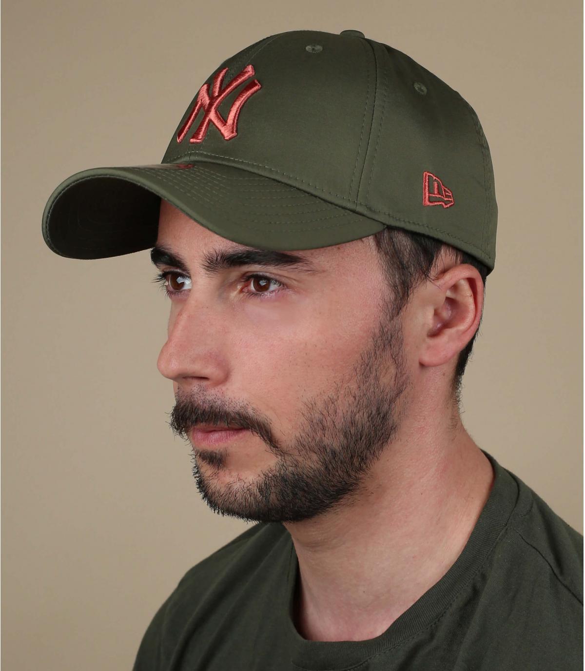 cappellino NY verde arancione