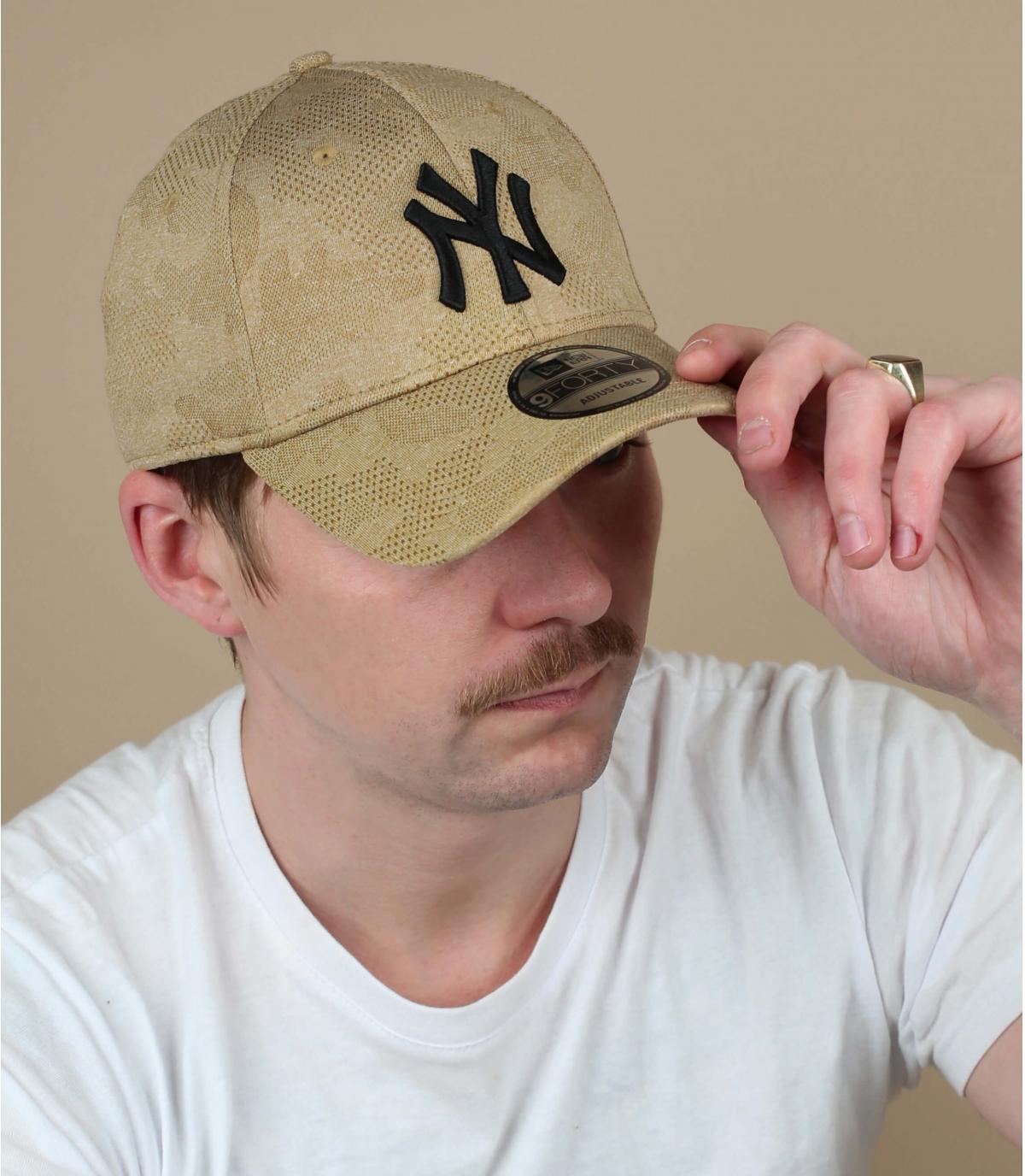 cappello beige beige