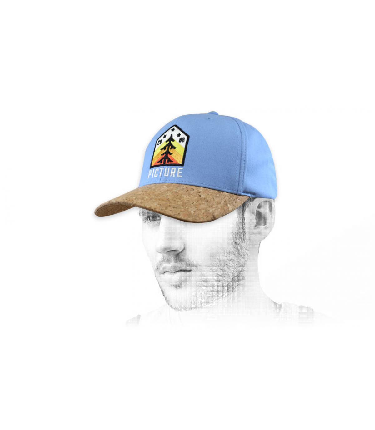 Cappellino con patch blu Picture