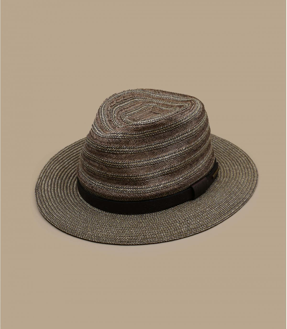 cappello di paglia in pelle