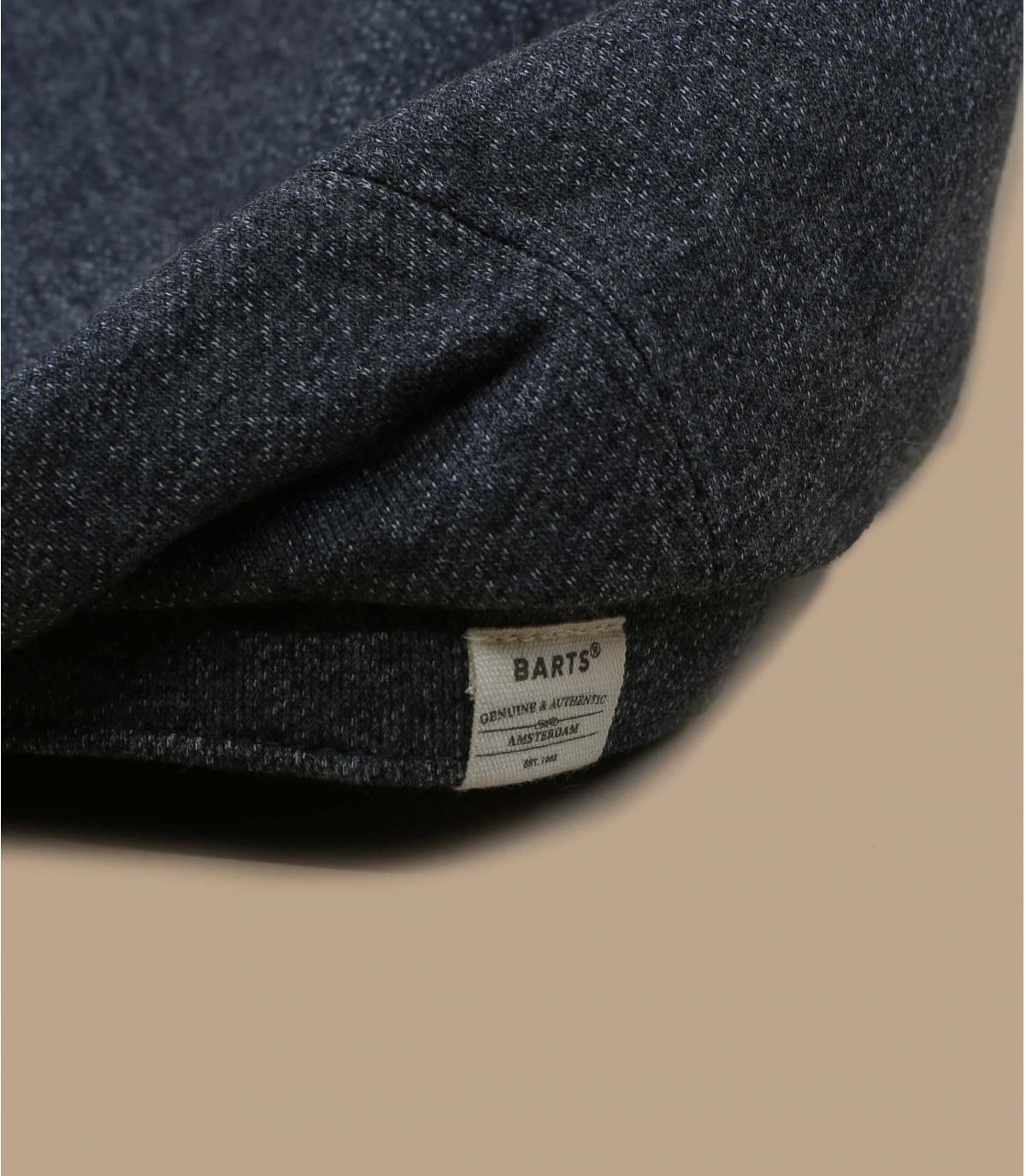 berretto in cotone e lino grigio
