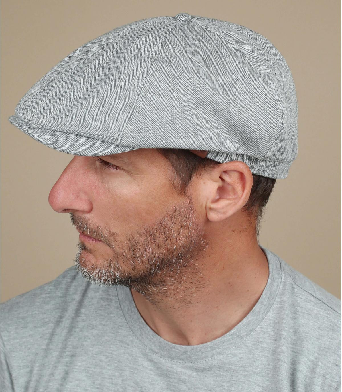 berretto strillone di lino grigio