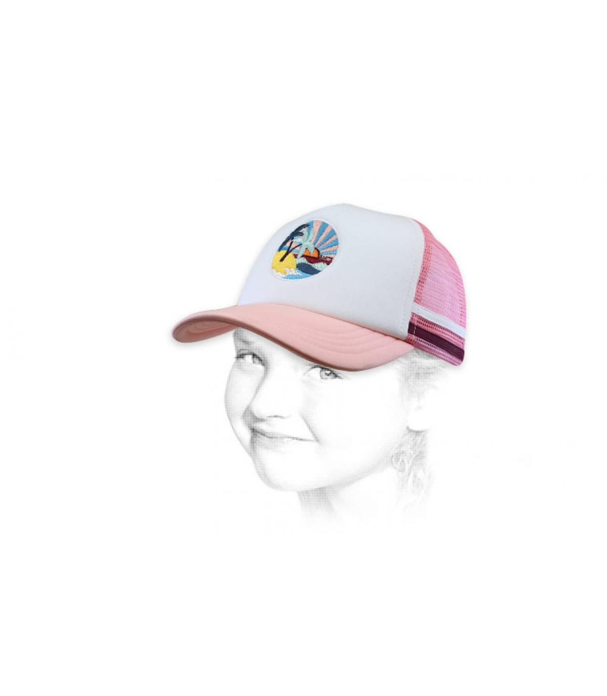 trucker bambino rosa palma