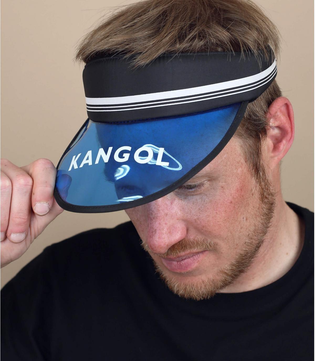 Visiera nera blu Kangol