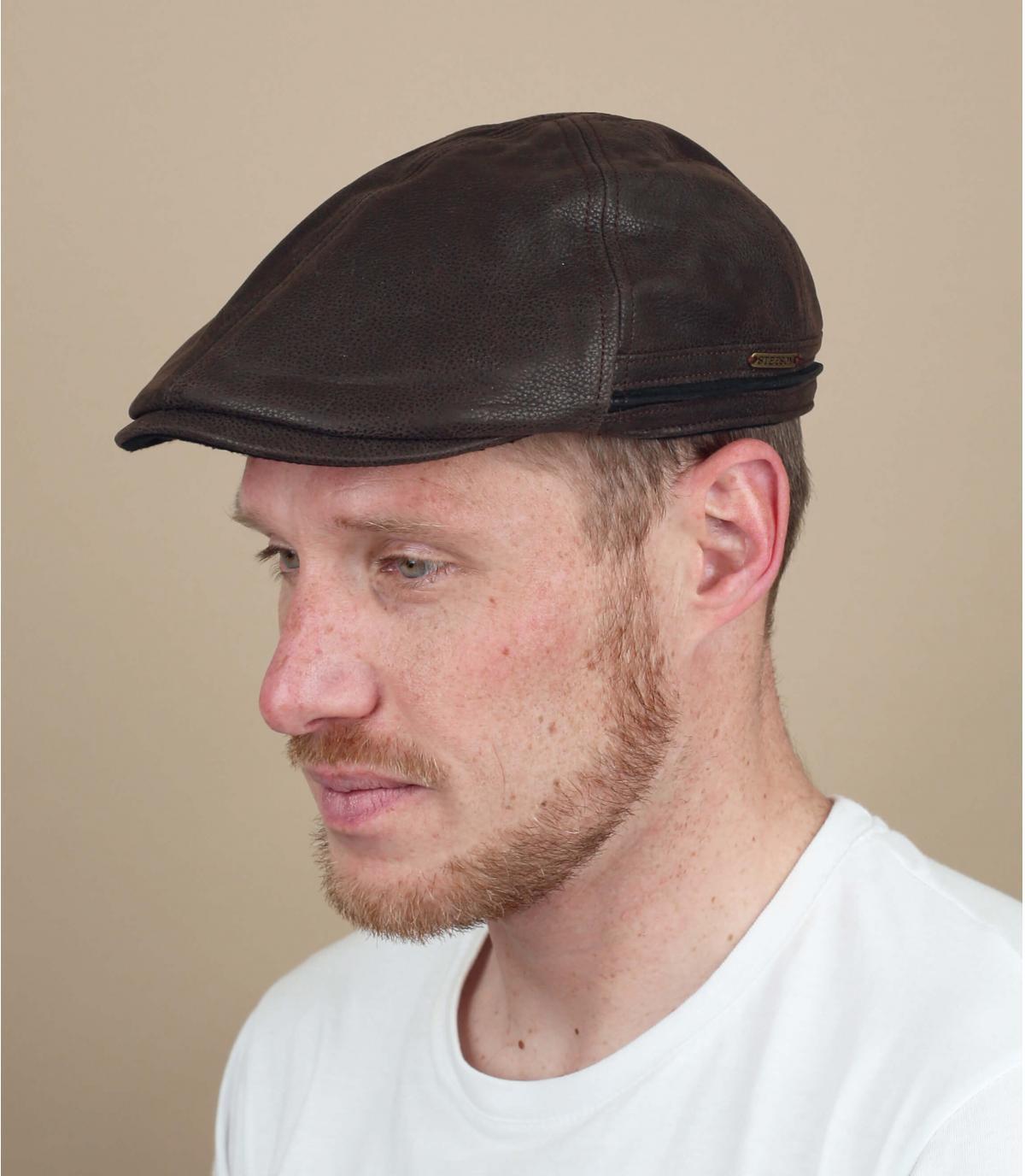 Cappellino piatto Stetson marrone