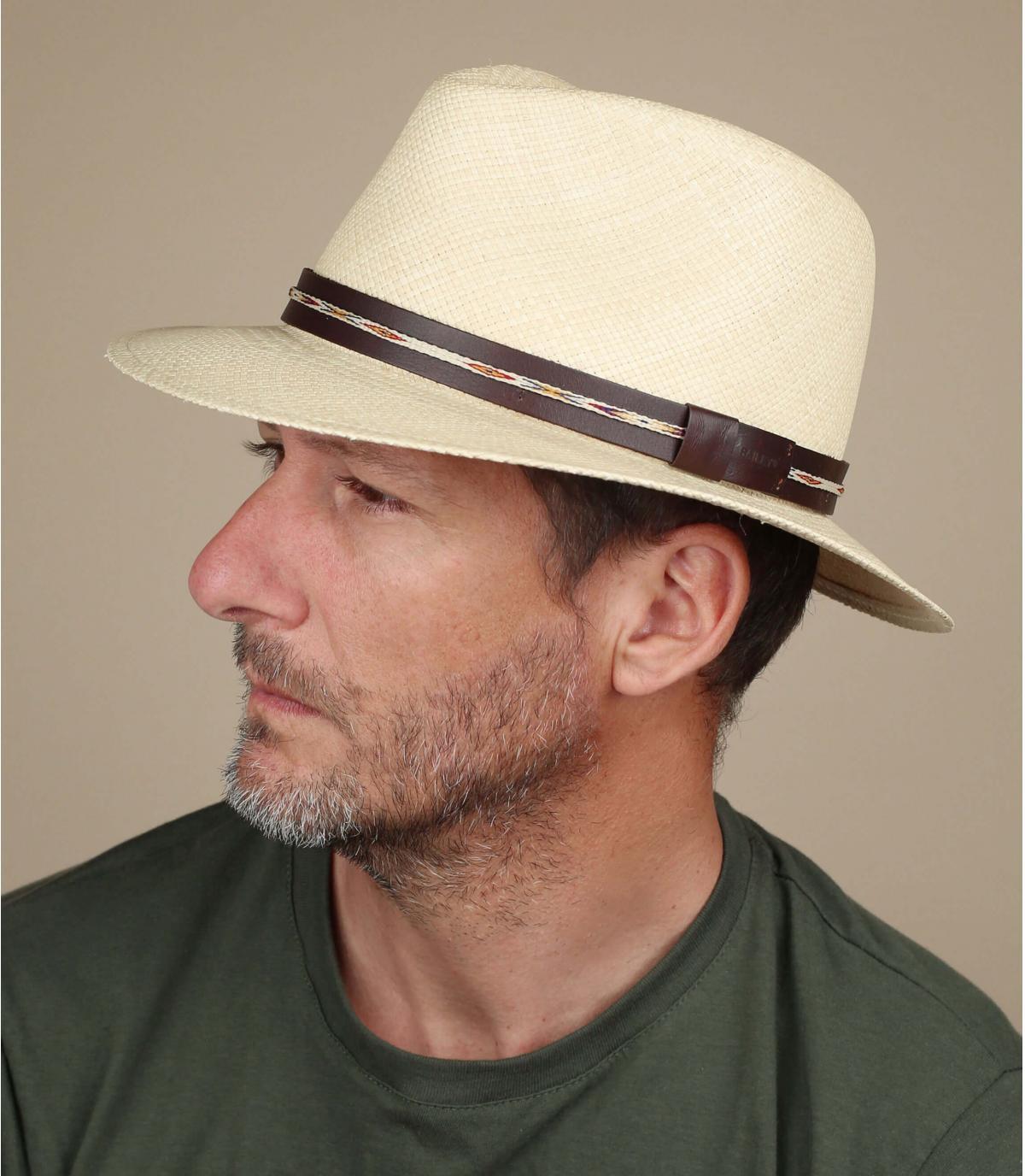 Cappello in paglia con maglie Bailey