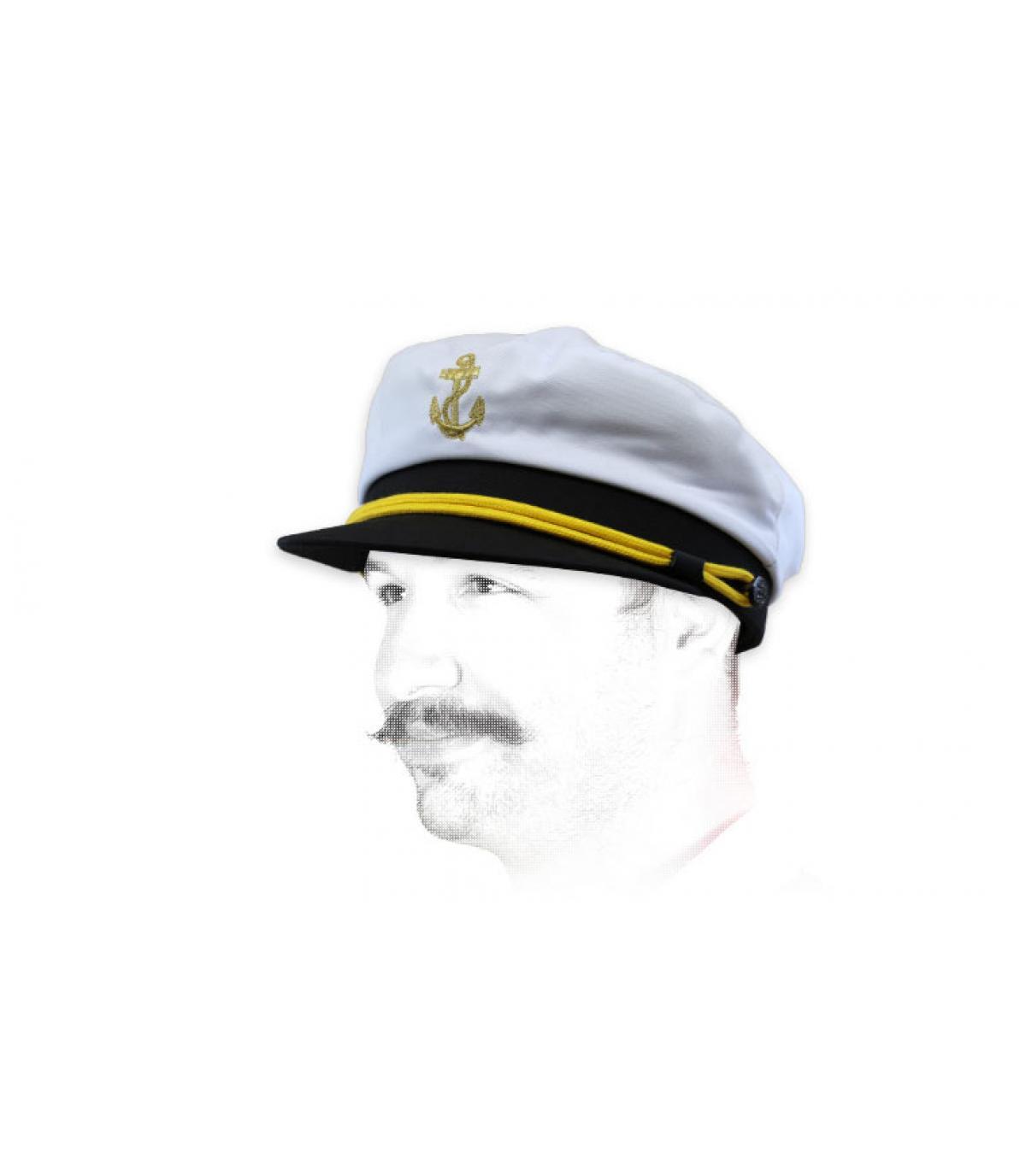 berretto da marinaio bianco