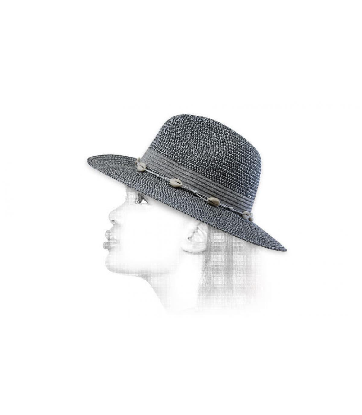 zilveren strooien hoed