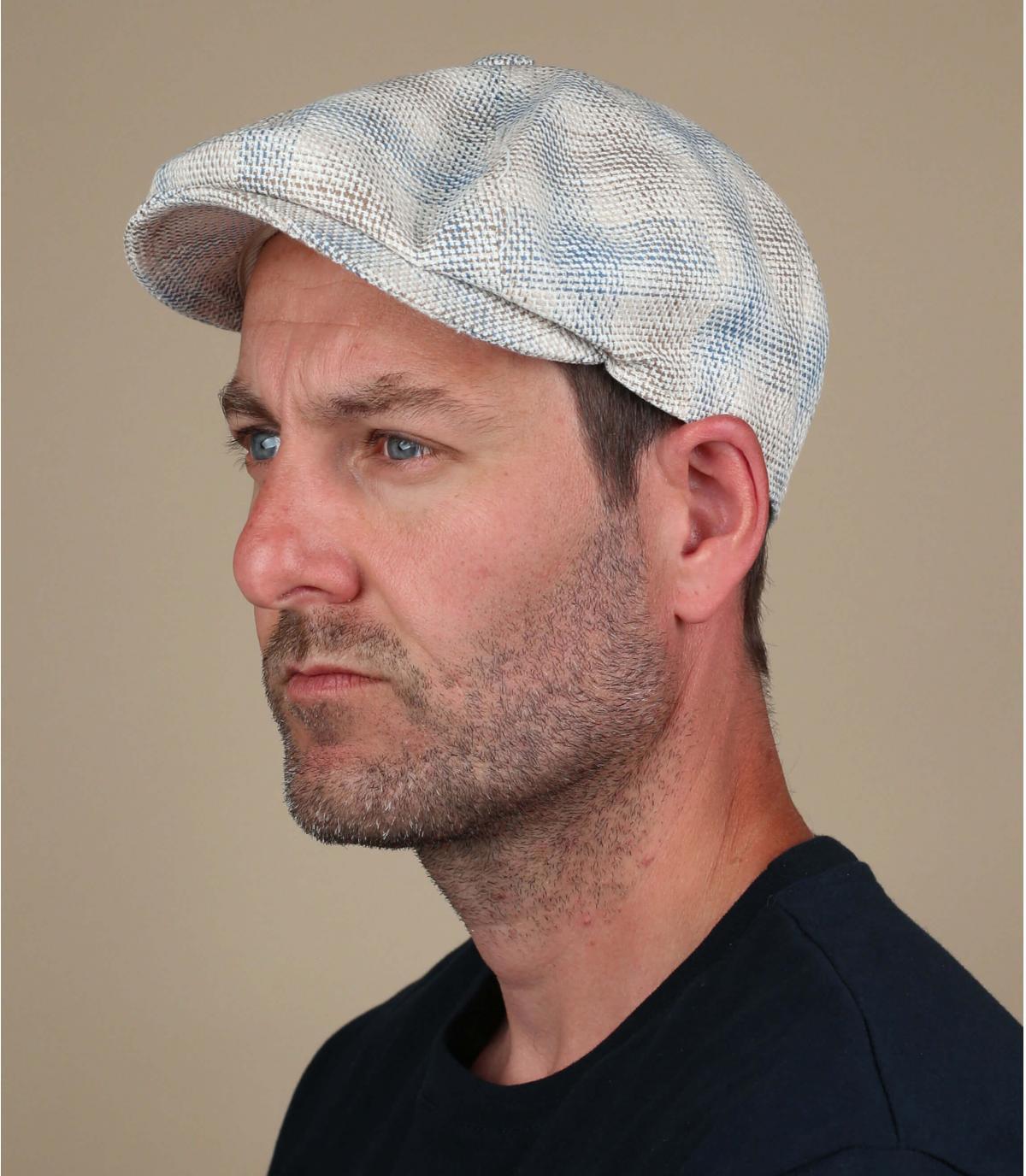 berretto strillone blu beige