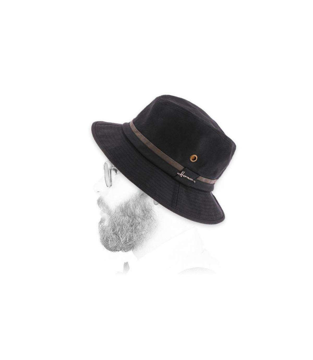 bob di cotone con rivestimento nero