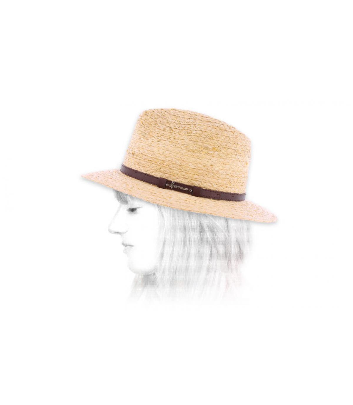 cappello di paglia da donna a tesa larga