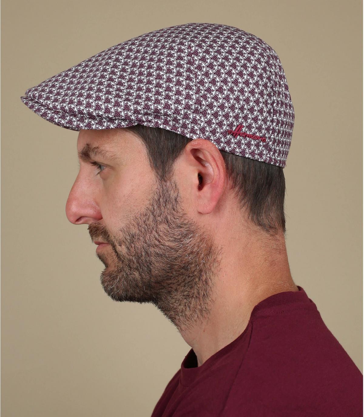 berretto di cotone bordeaux