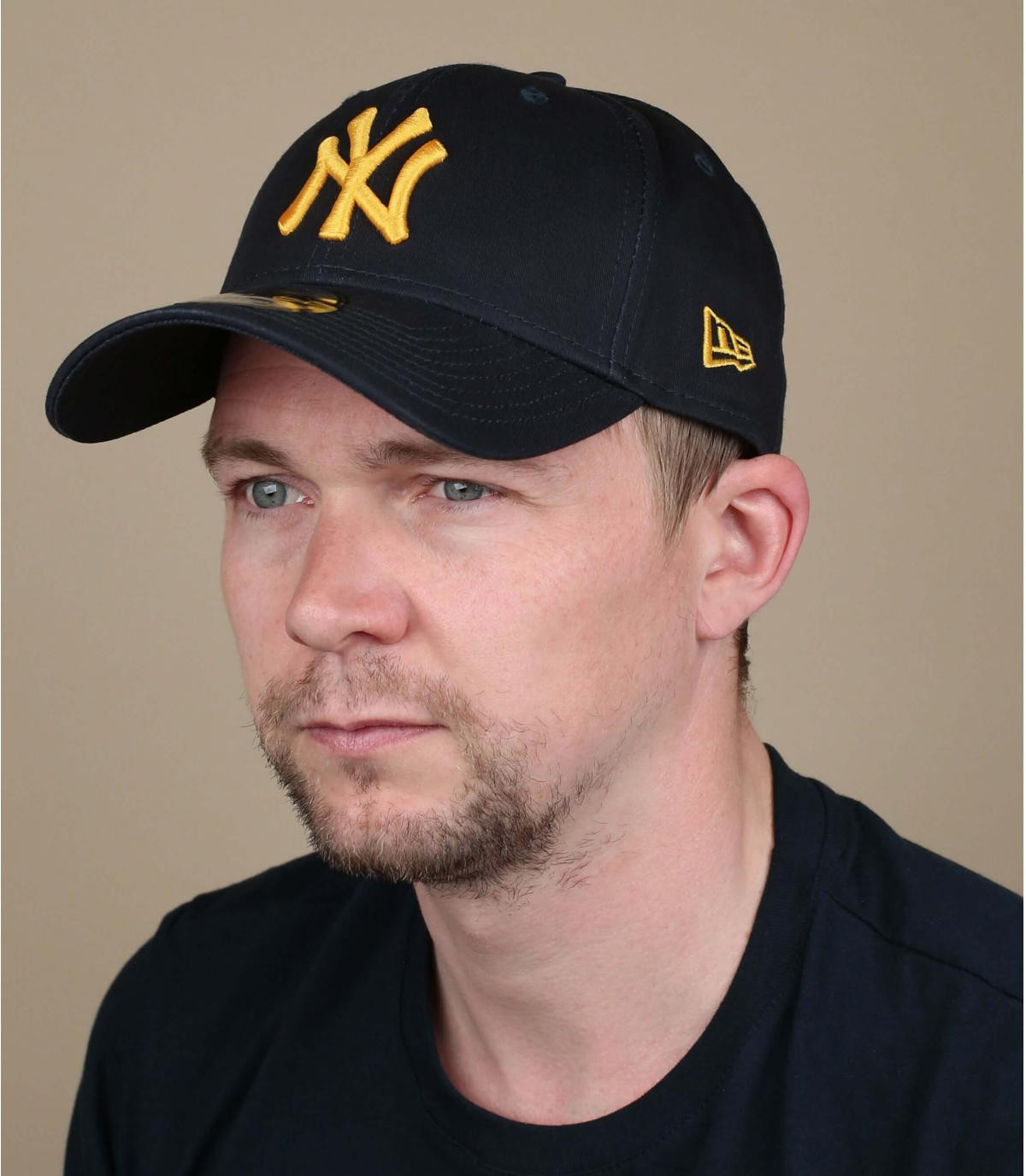 cappellino NY blu giallo