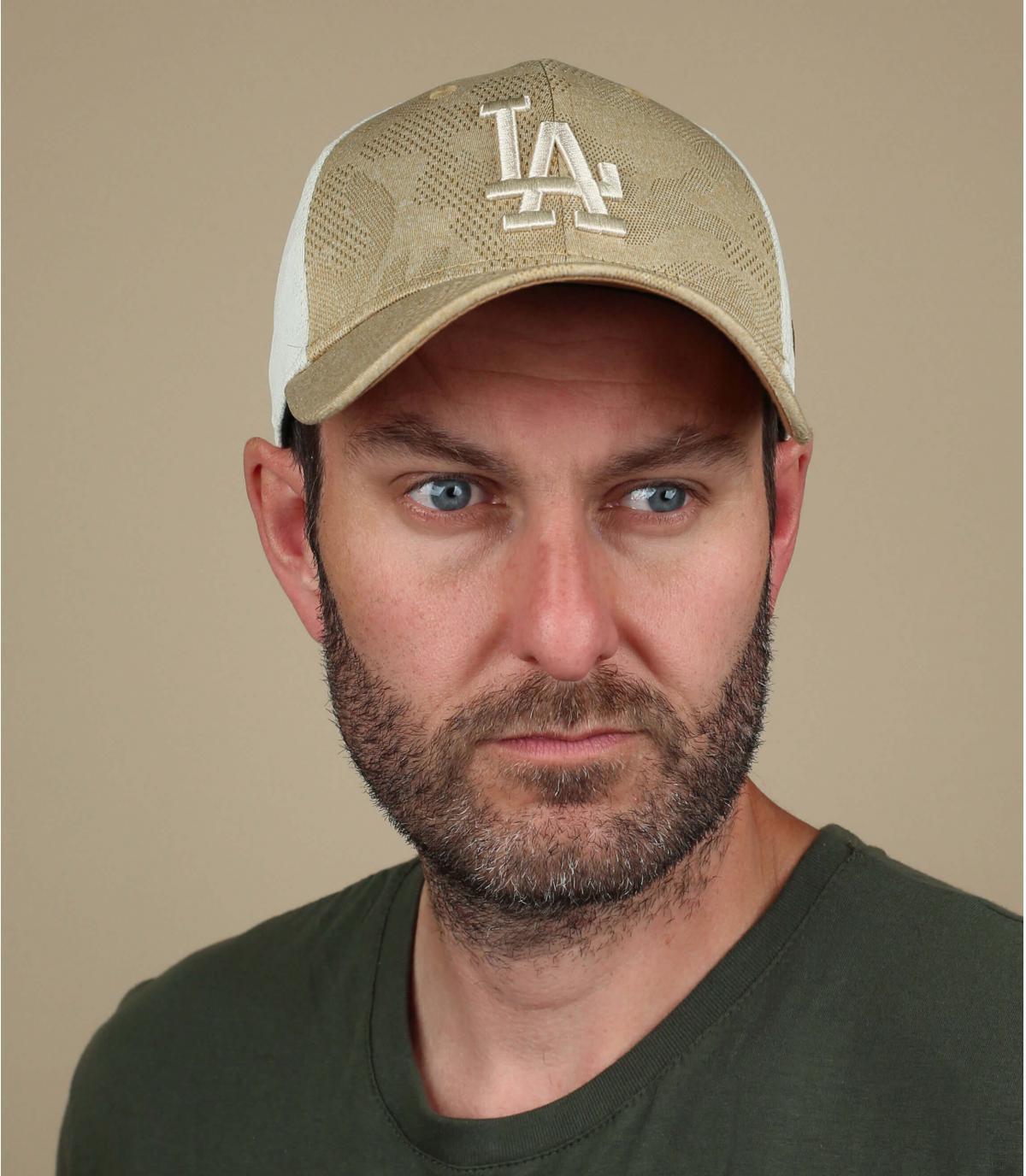 cappellino LA beige
