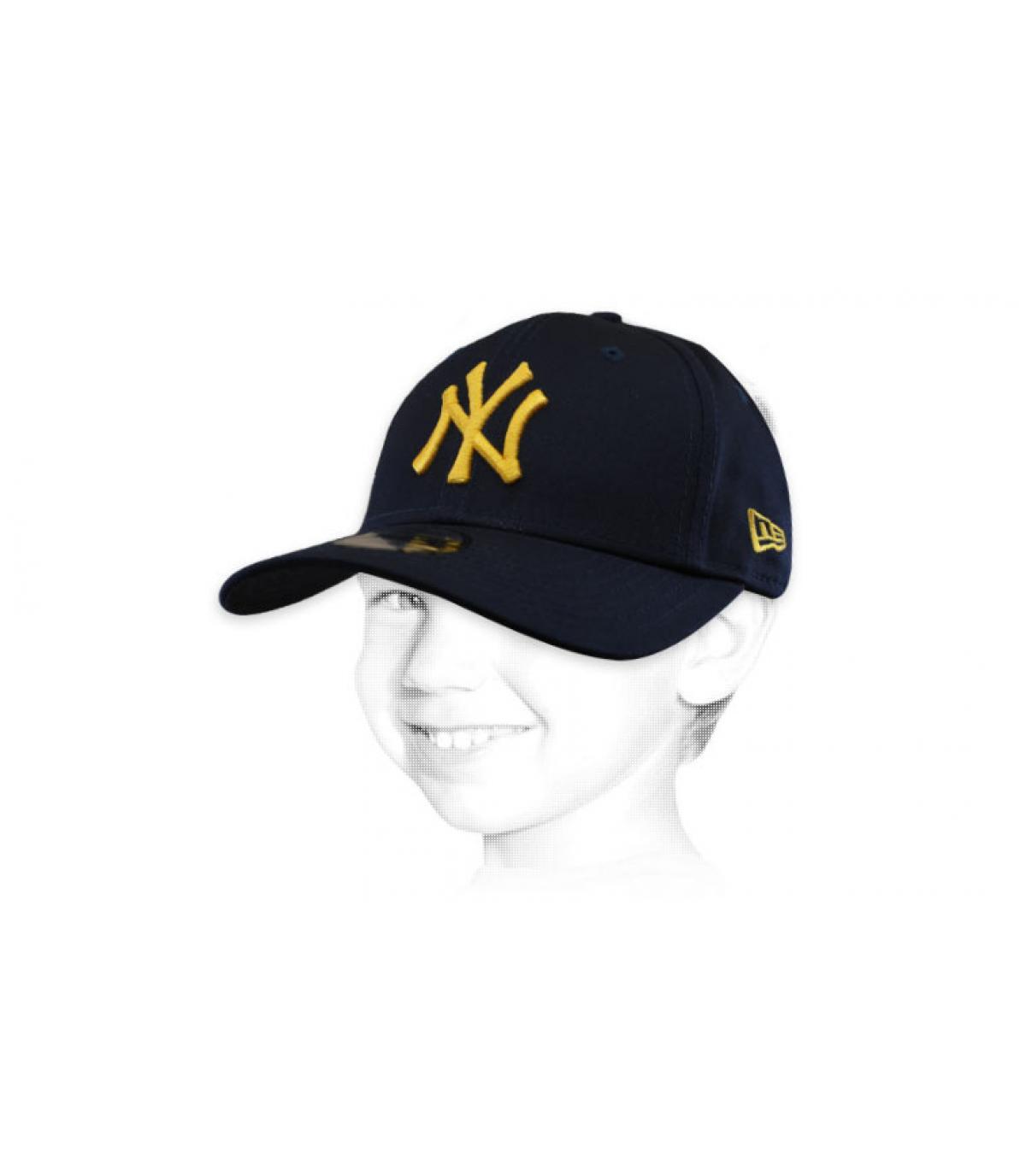 Cappellino bambino blu NY