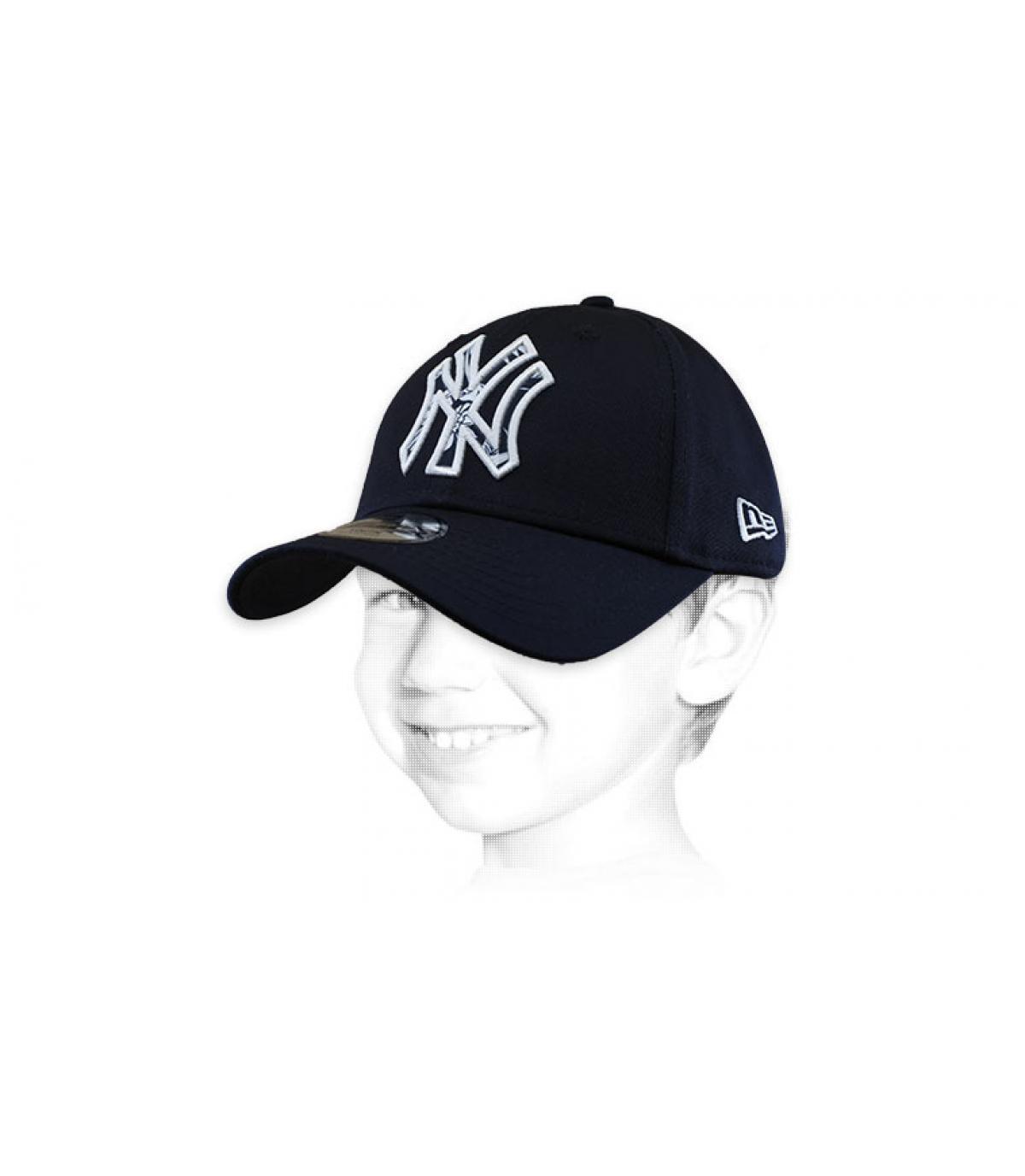 cappellino NY blu
