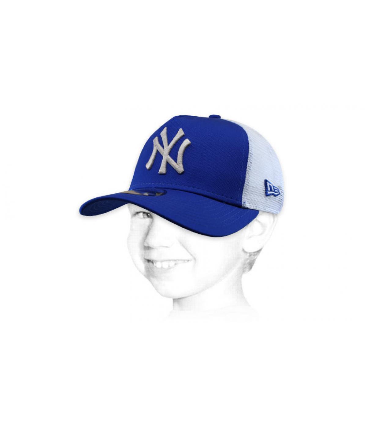 trucker bambino NY blu