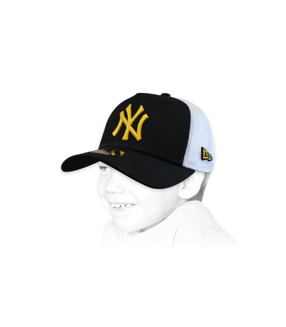 trucker per bambini giallo nero NY