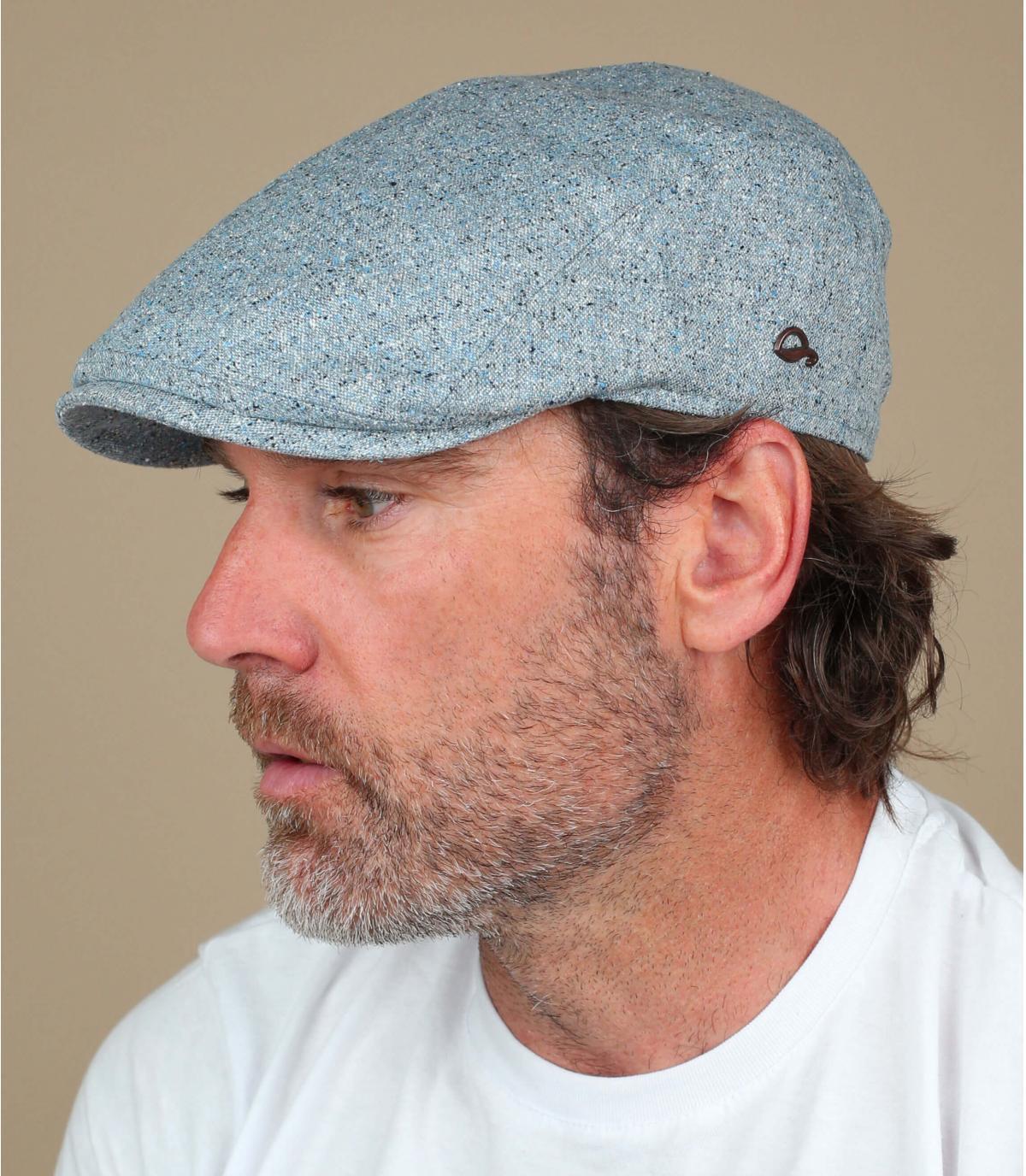 berretto di seta blu