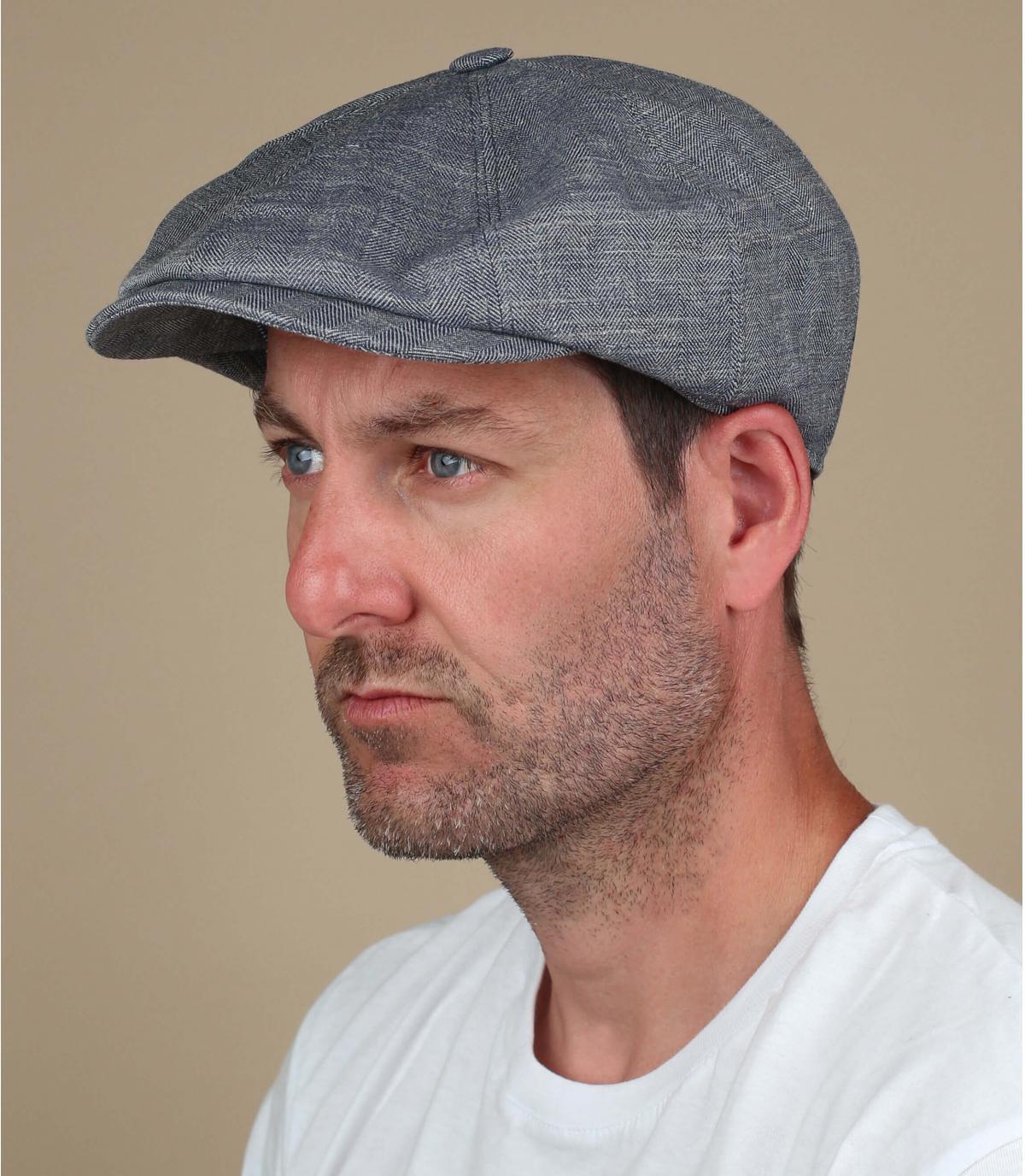 berretto strillone grigio lino