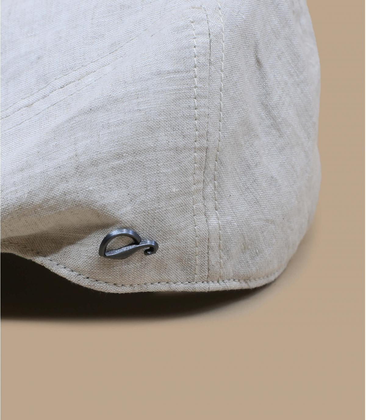 berretto di lino beige