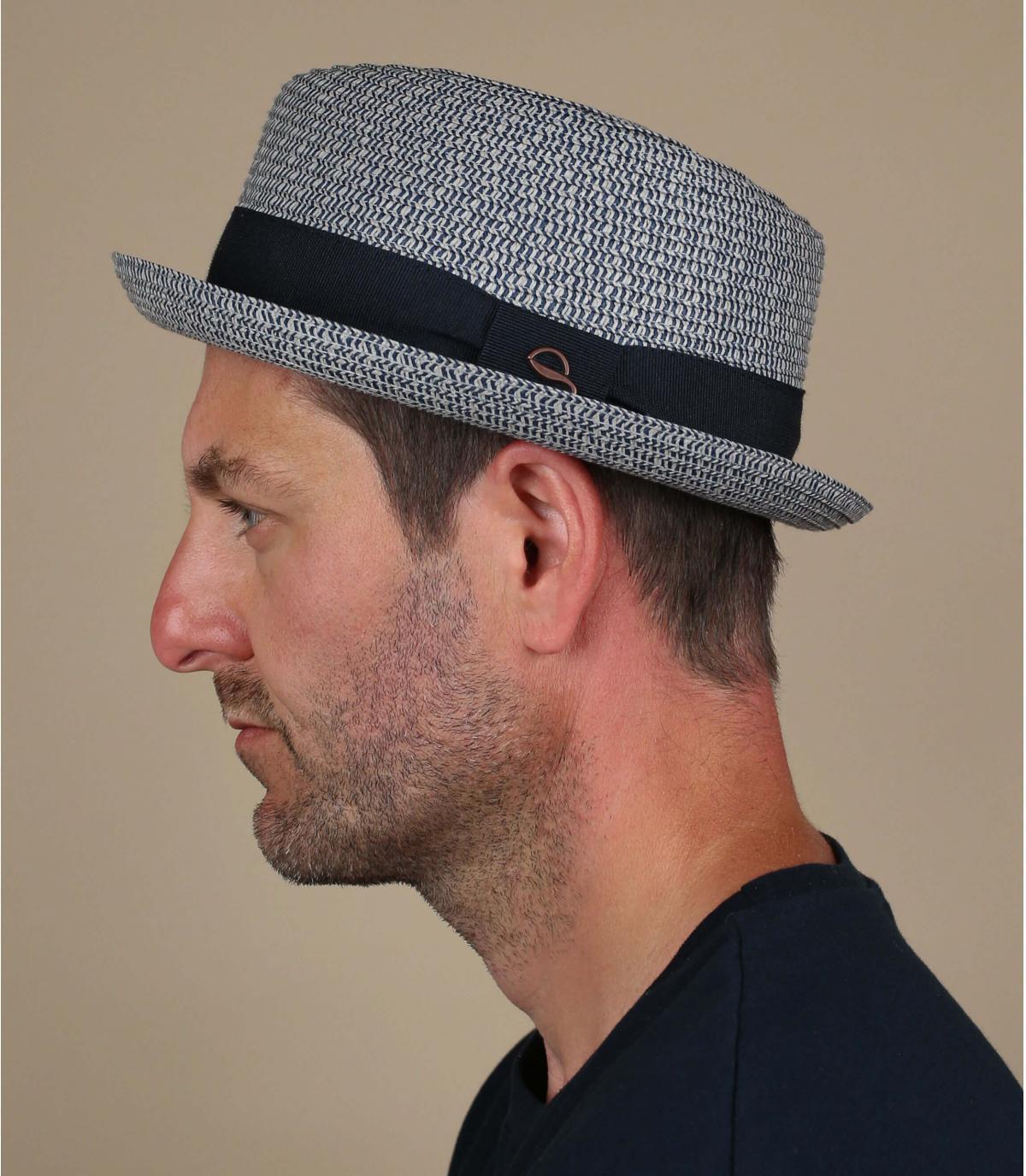 cappello di paglia blu
