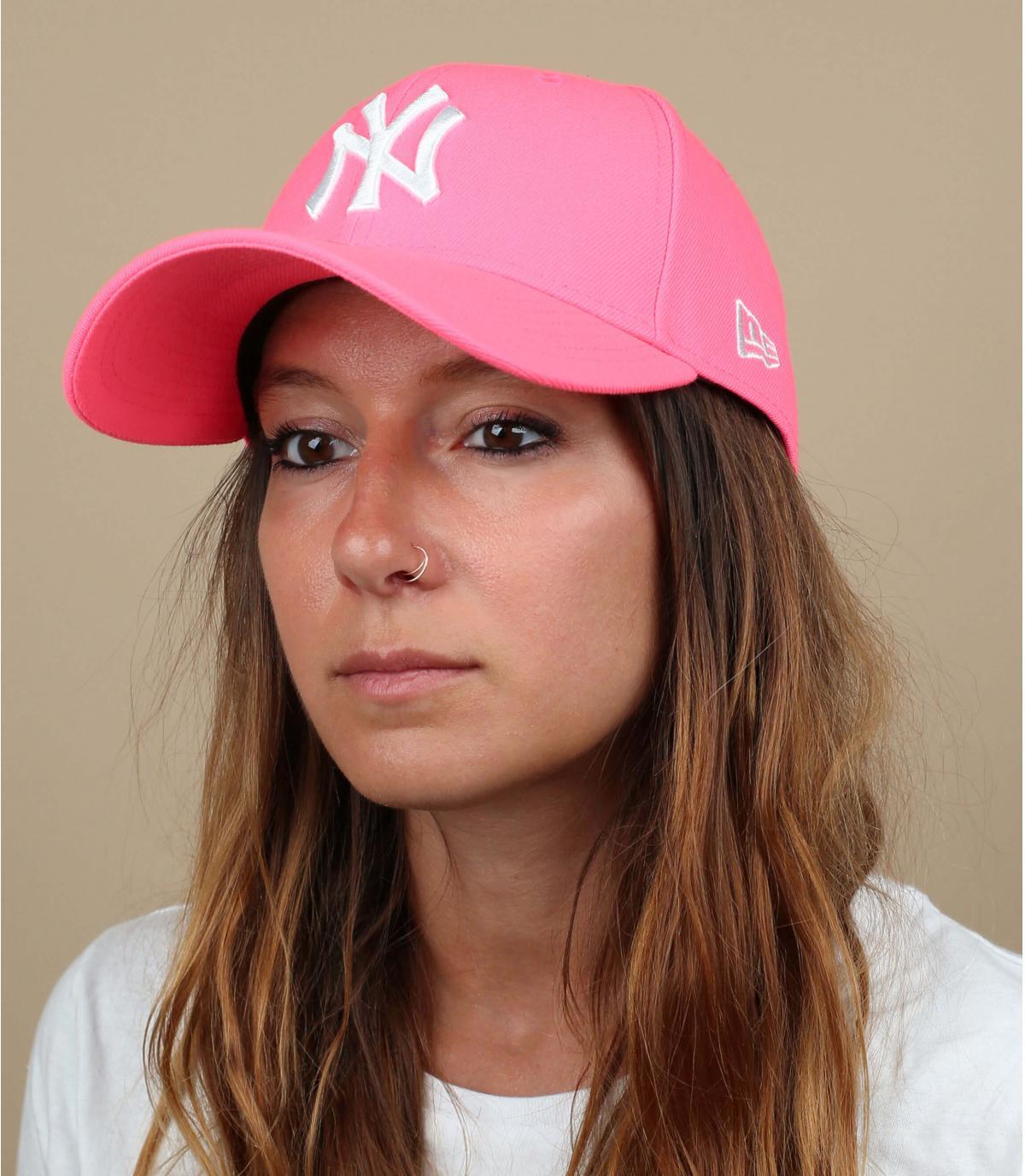 Cappellino NY neon rosa