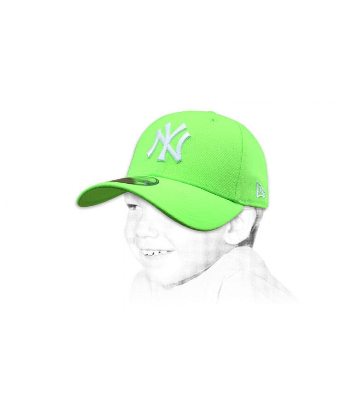 Cappellino da bambino verde NY