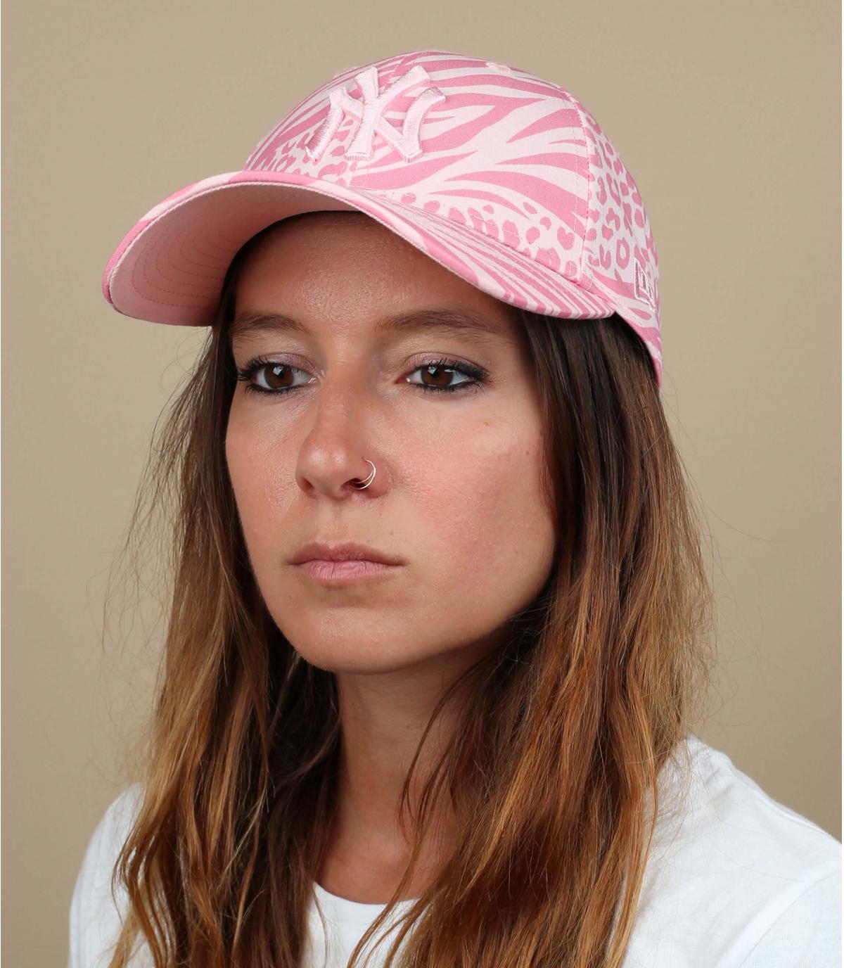 Cappellino donna NY rosa