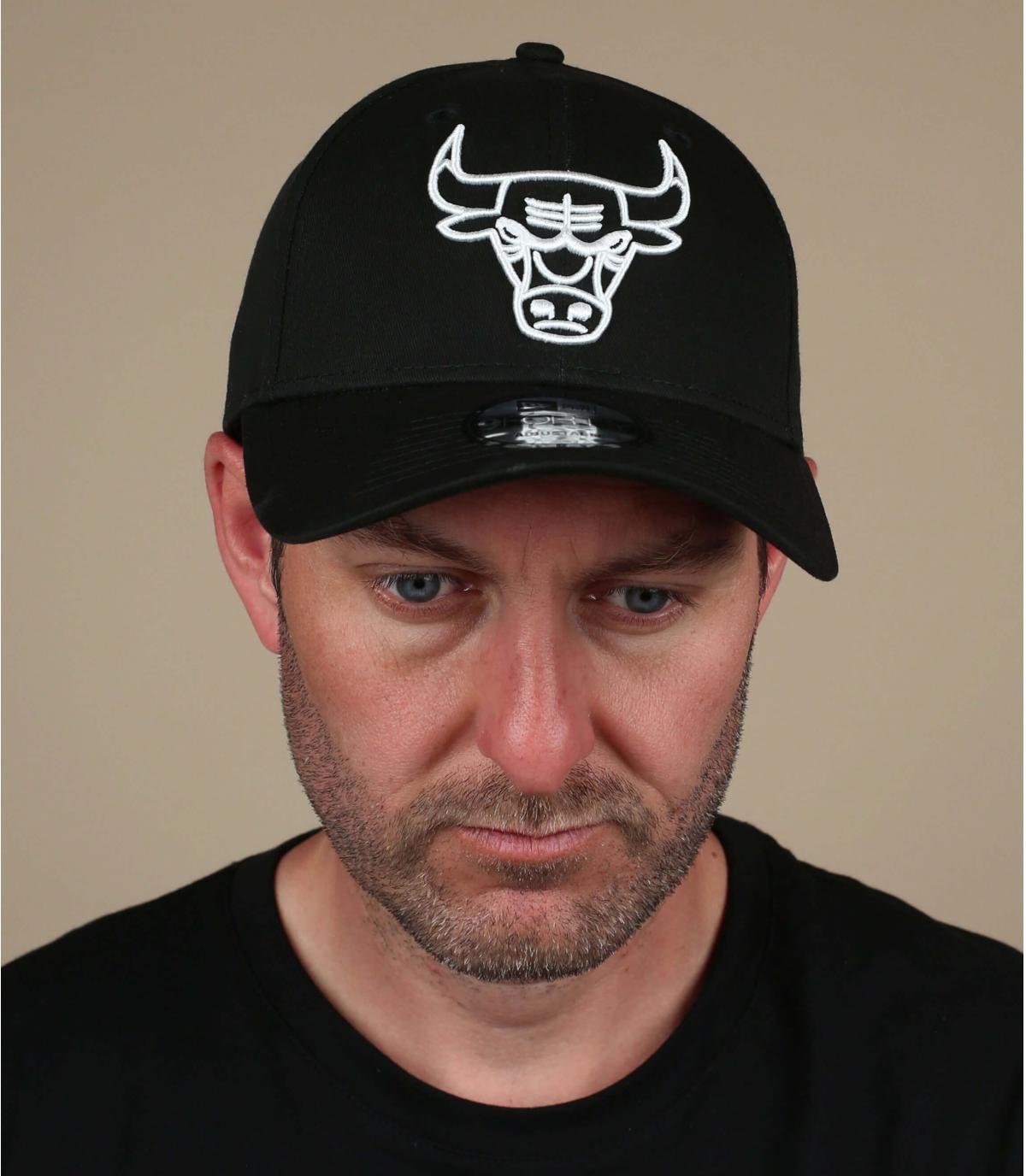 berretto nero bianco