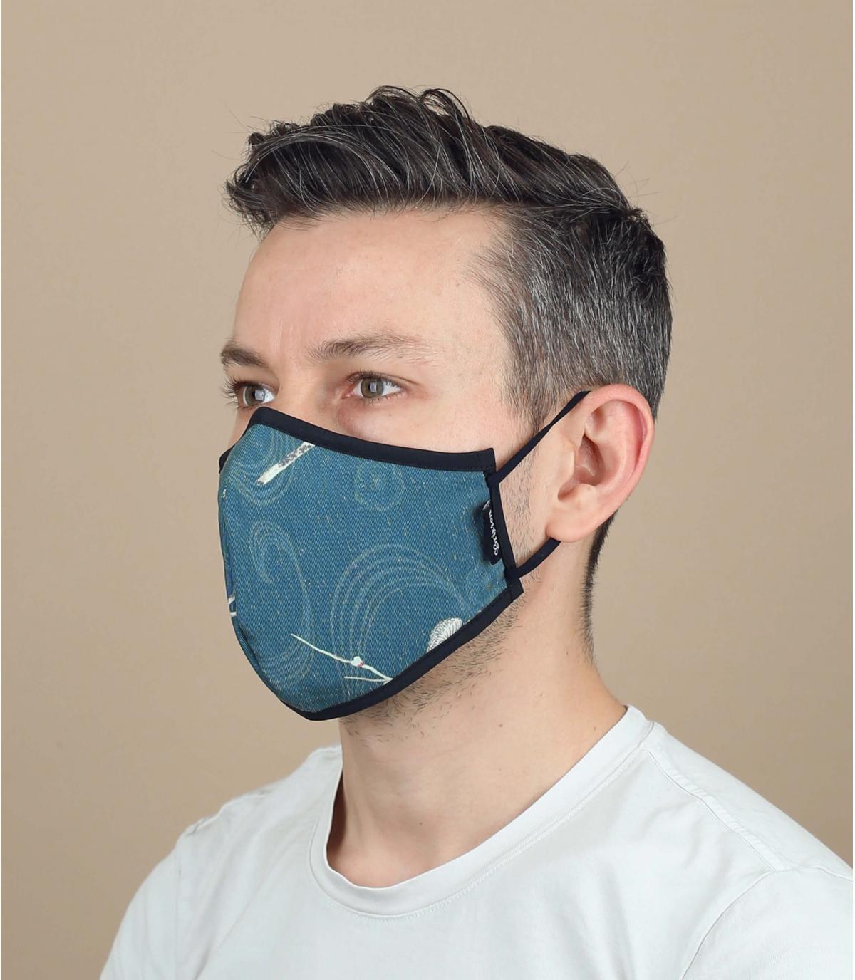 maschera di fiori di coronavirus