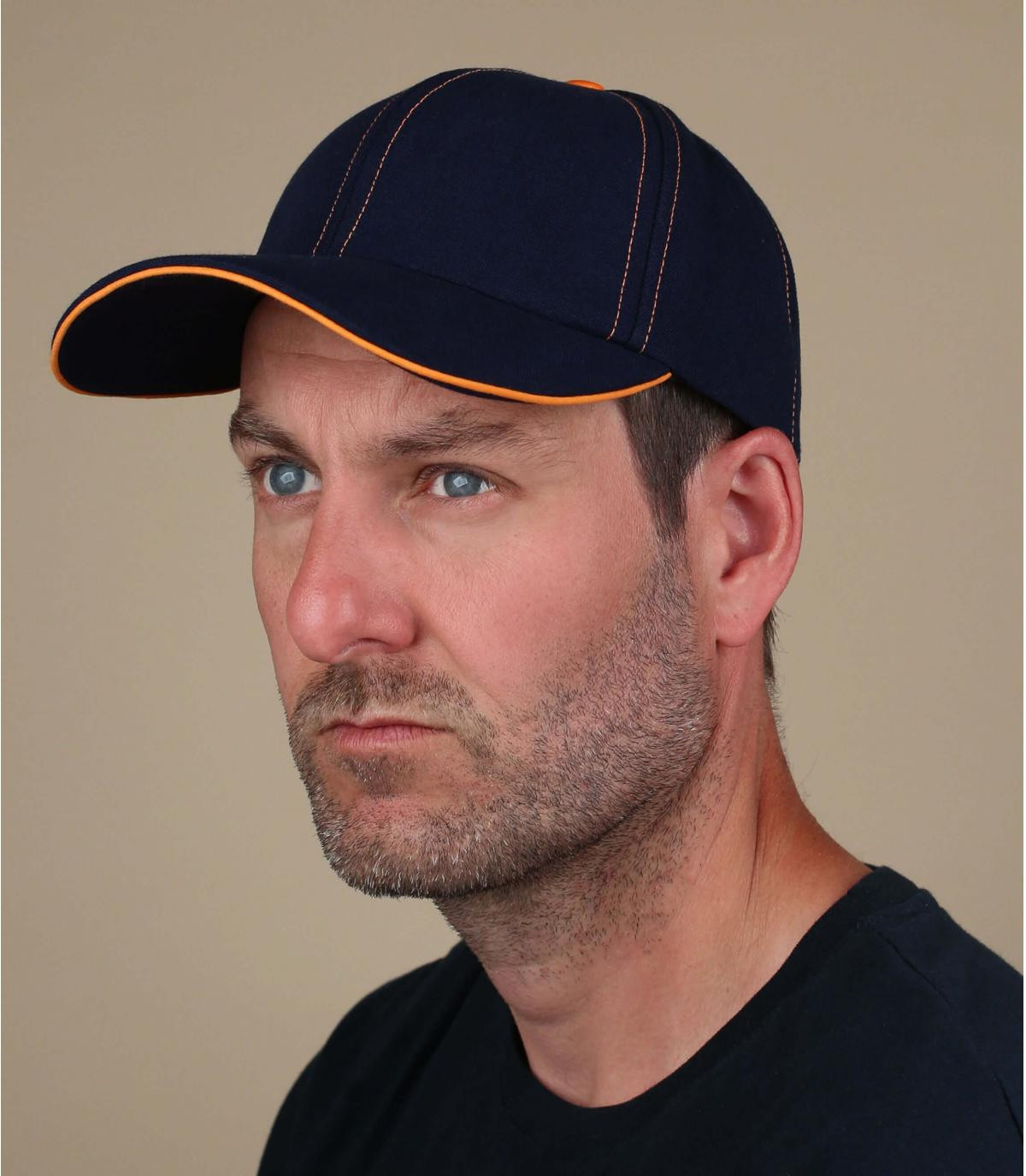 cappellino blu arancio Chapoté