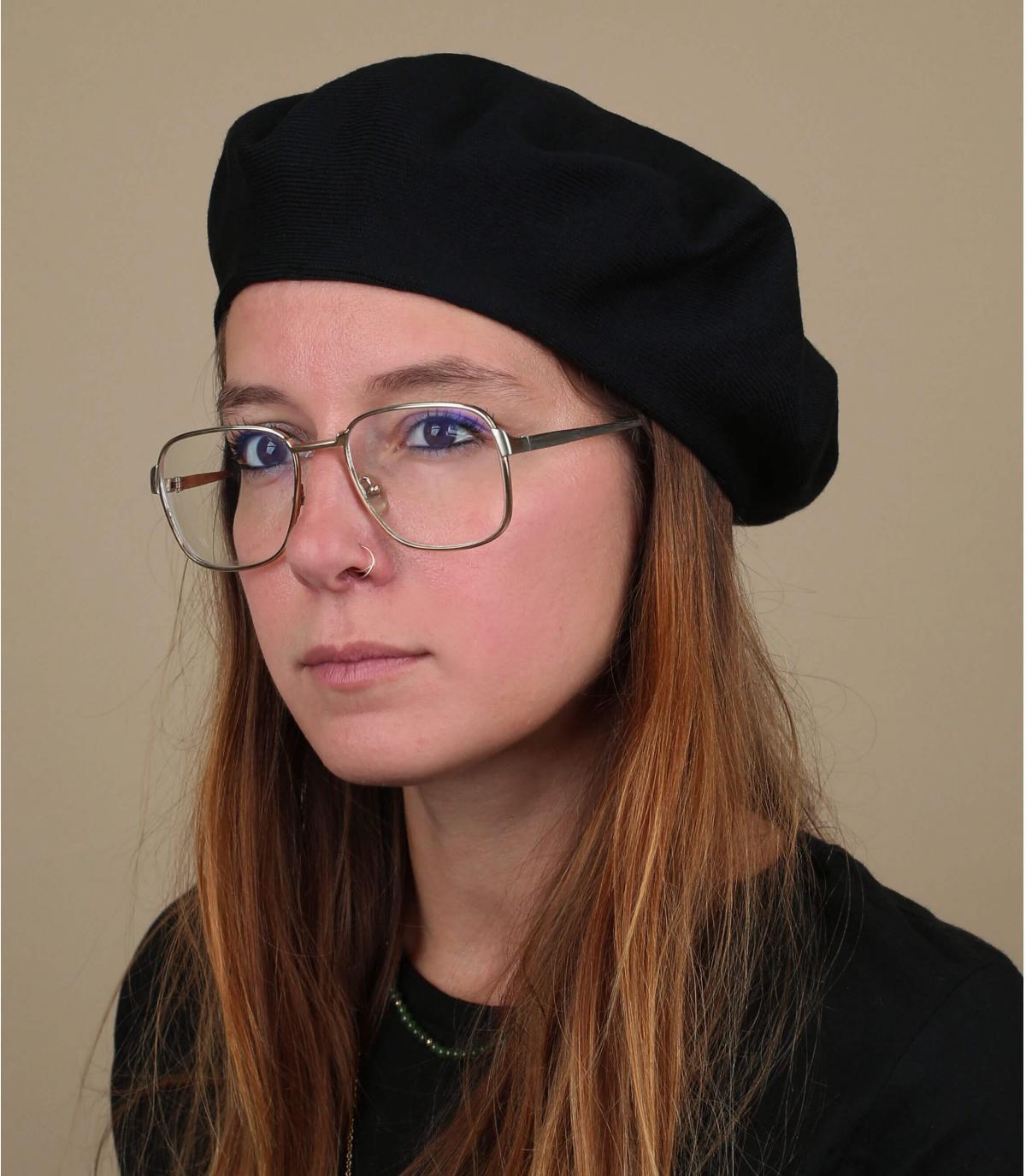 berretto di cotone nero