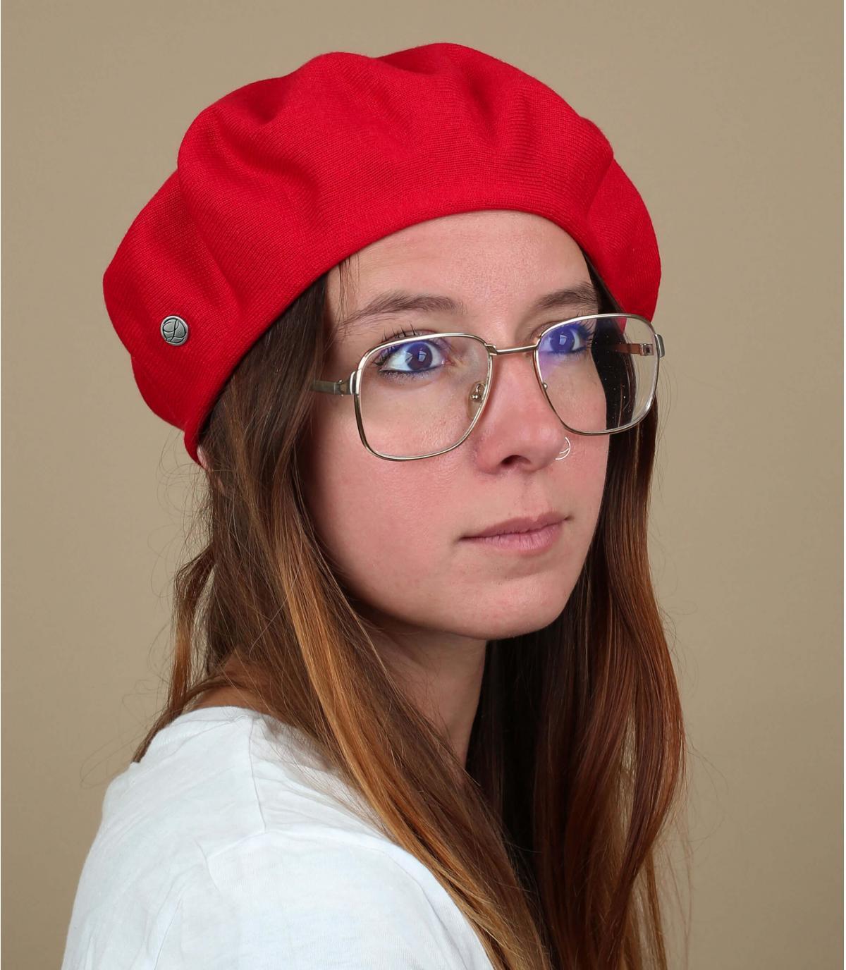 berretto di cotone rosso