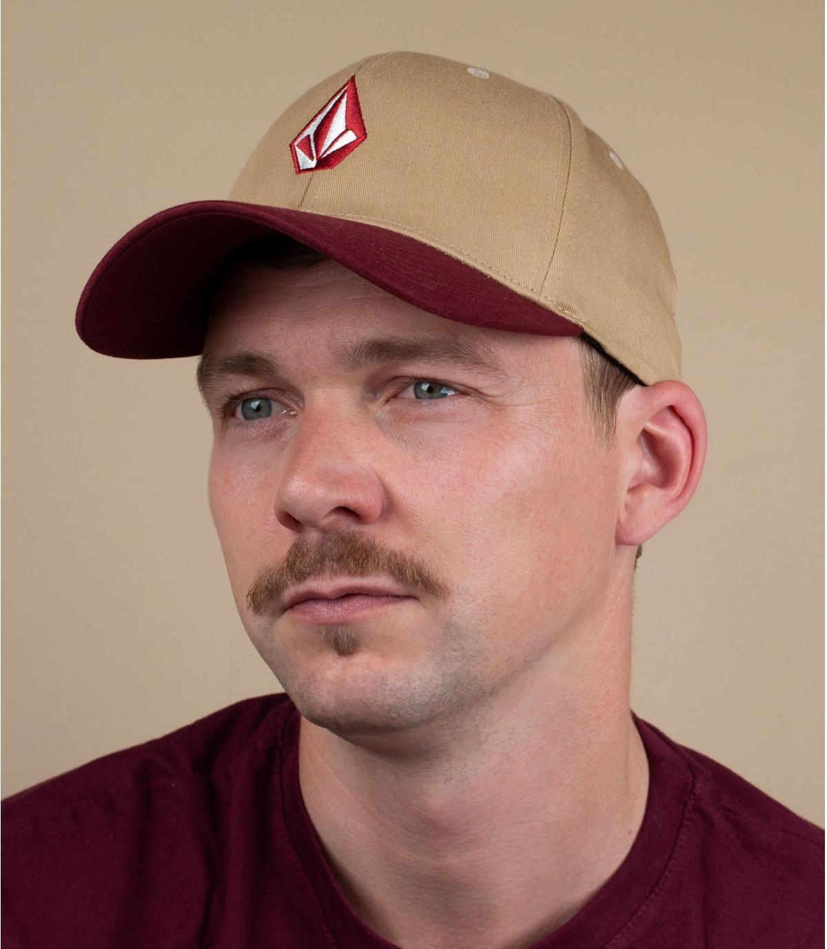 cappello Volcom bordeaux beige