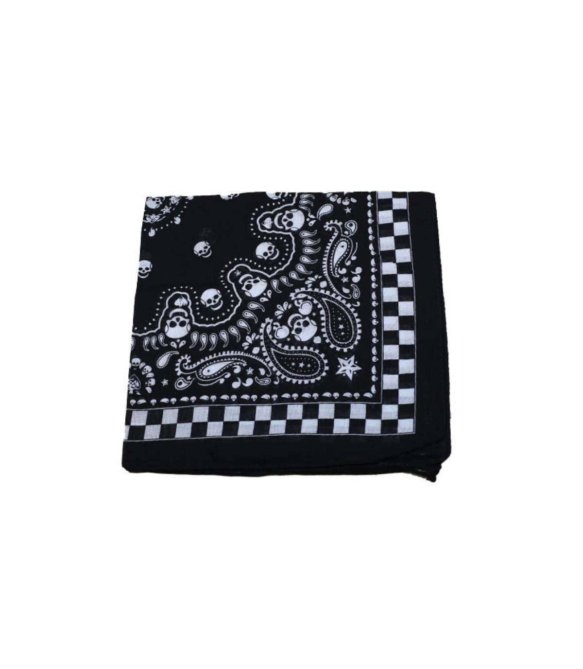bandana con teschio nero