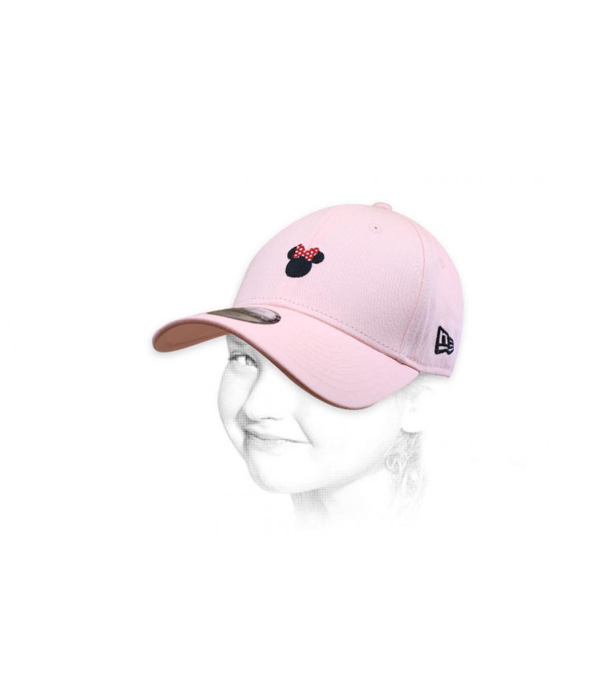 berretto da minnie rosa per bambina