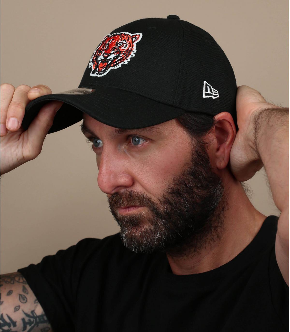 cappello da tigre Detroit nero