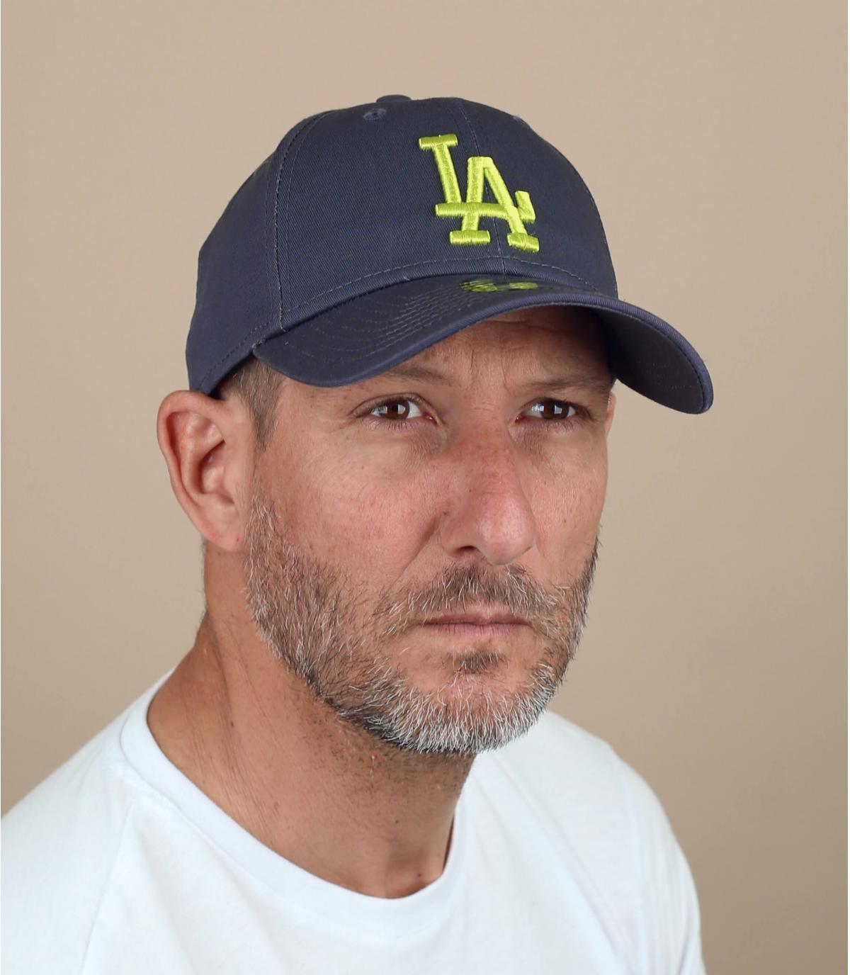 Cappellino giallo grigio LA