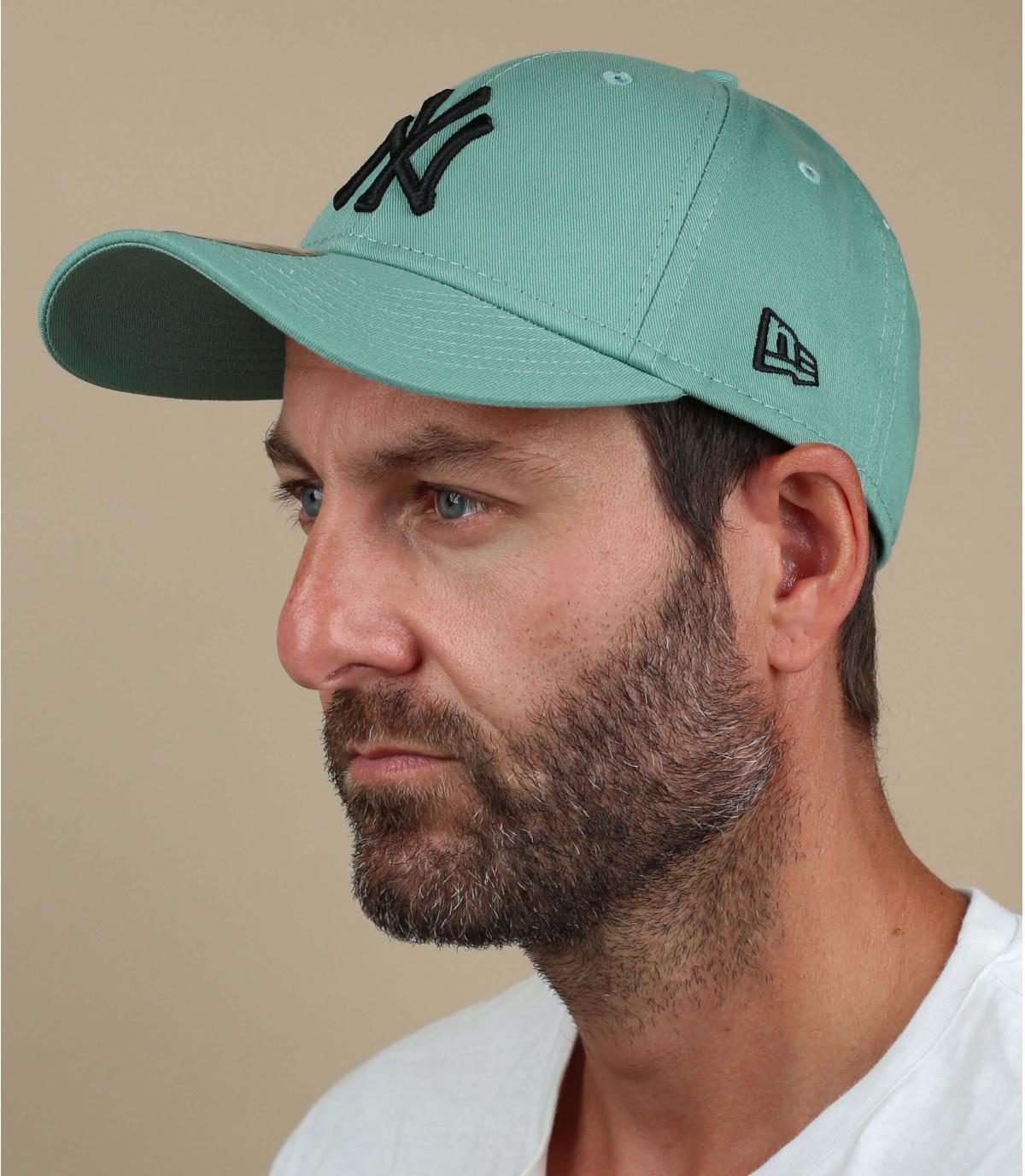 cappellino NY verde nero