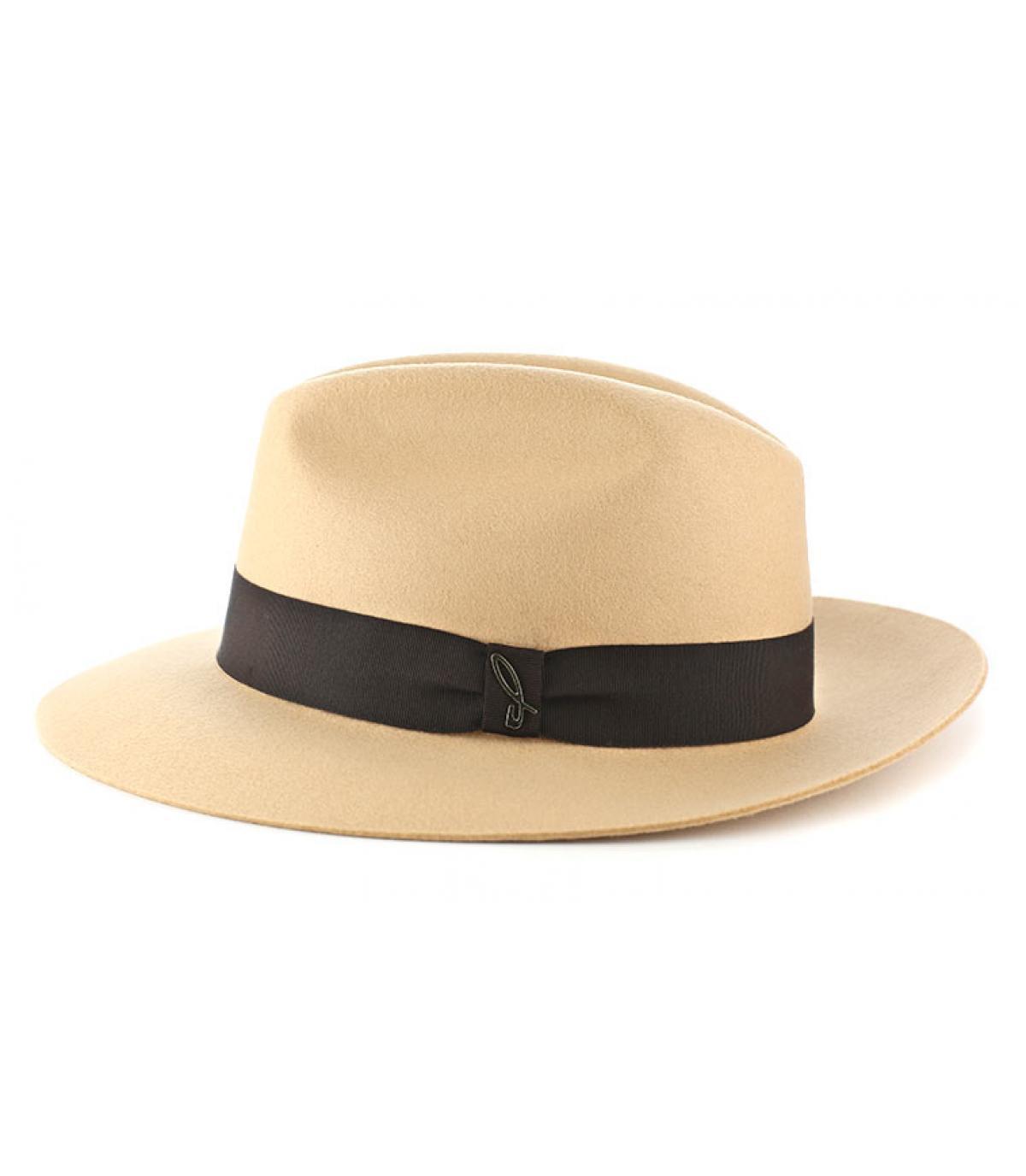 Cappello feutre Doria beige