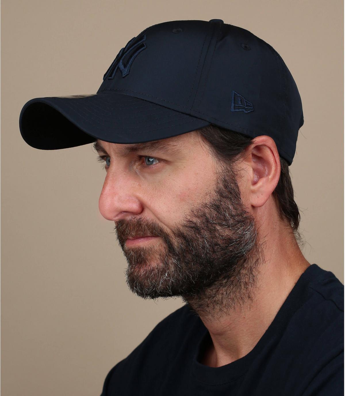 cappellino pieghevole nero NY
